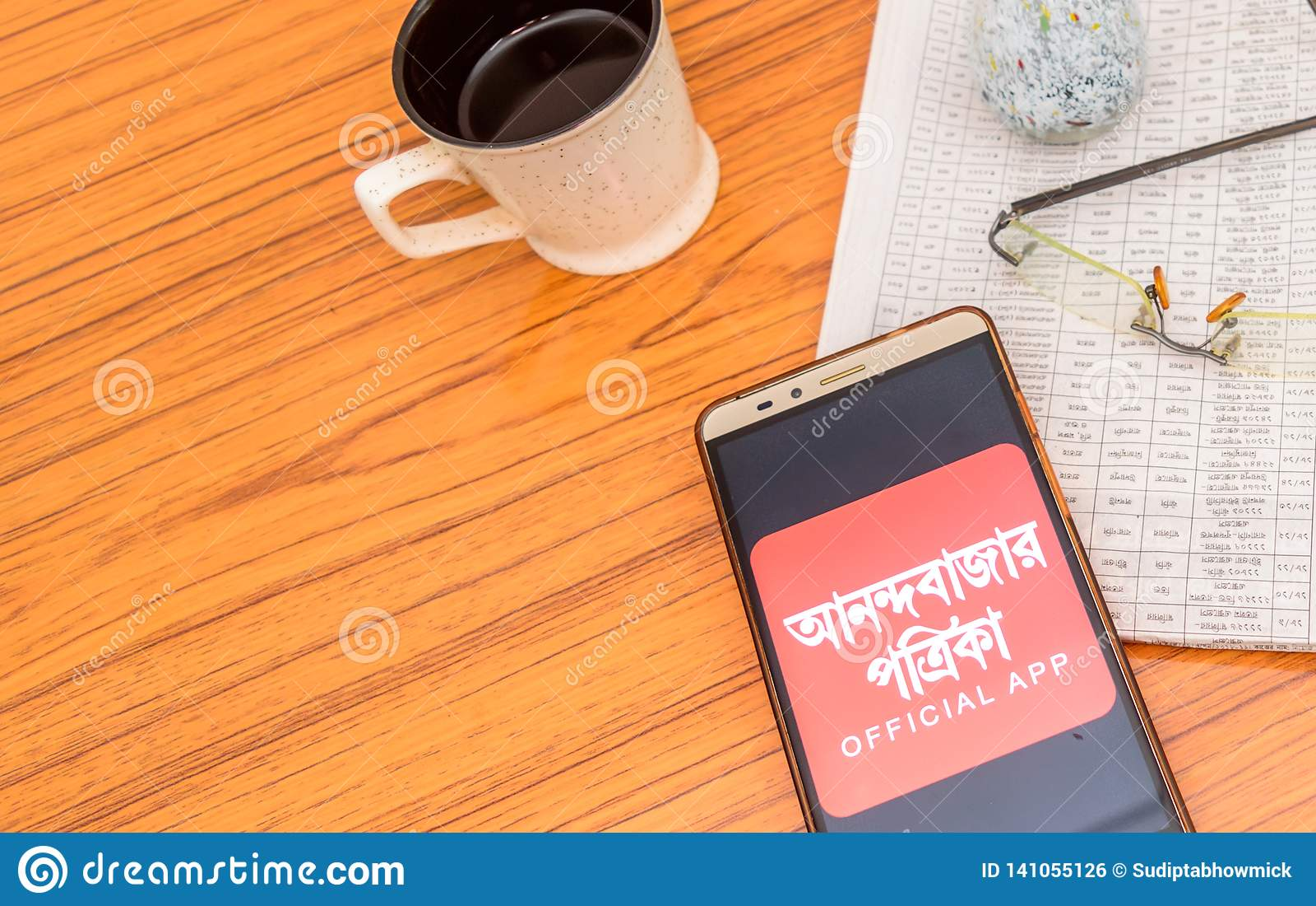 Kolkata, India, February 3, 2019: Anandabazar Patrika Bengali News