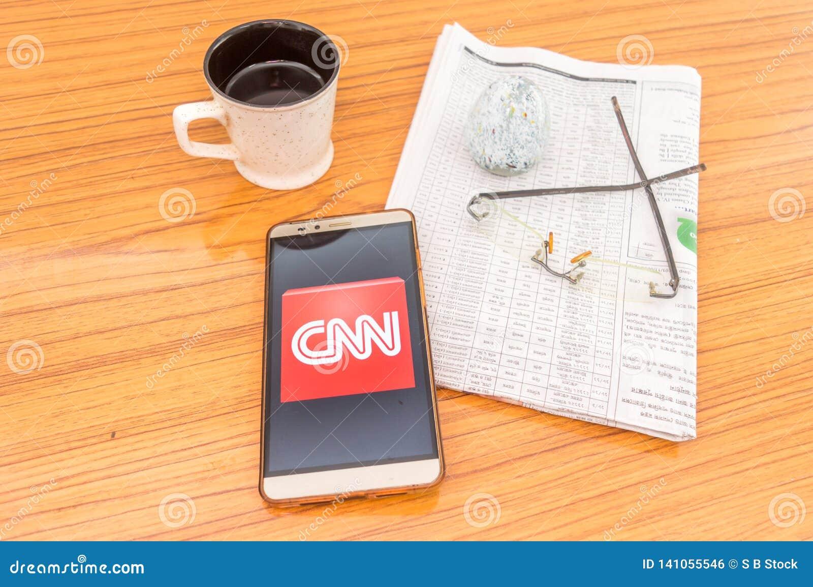Kolkata, India, February 3, 2019: CNN News App Application
