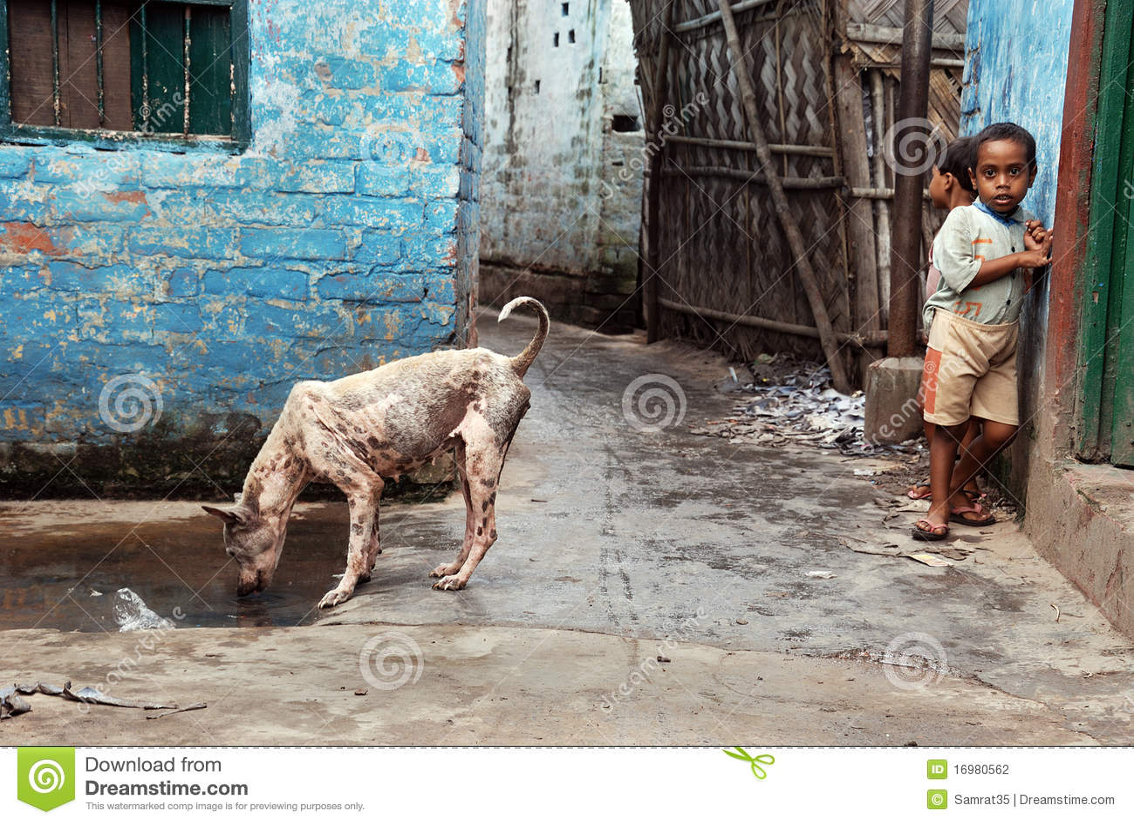 Slum Dwellers Of Kolkata-India Editorial Stock Image