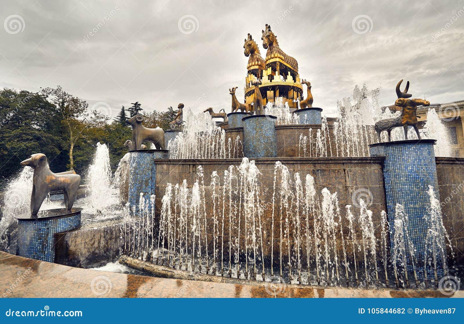 Kolkhida springbrunn i Kutaisi