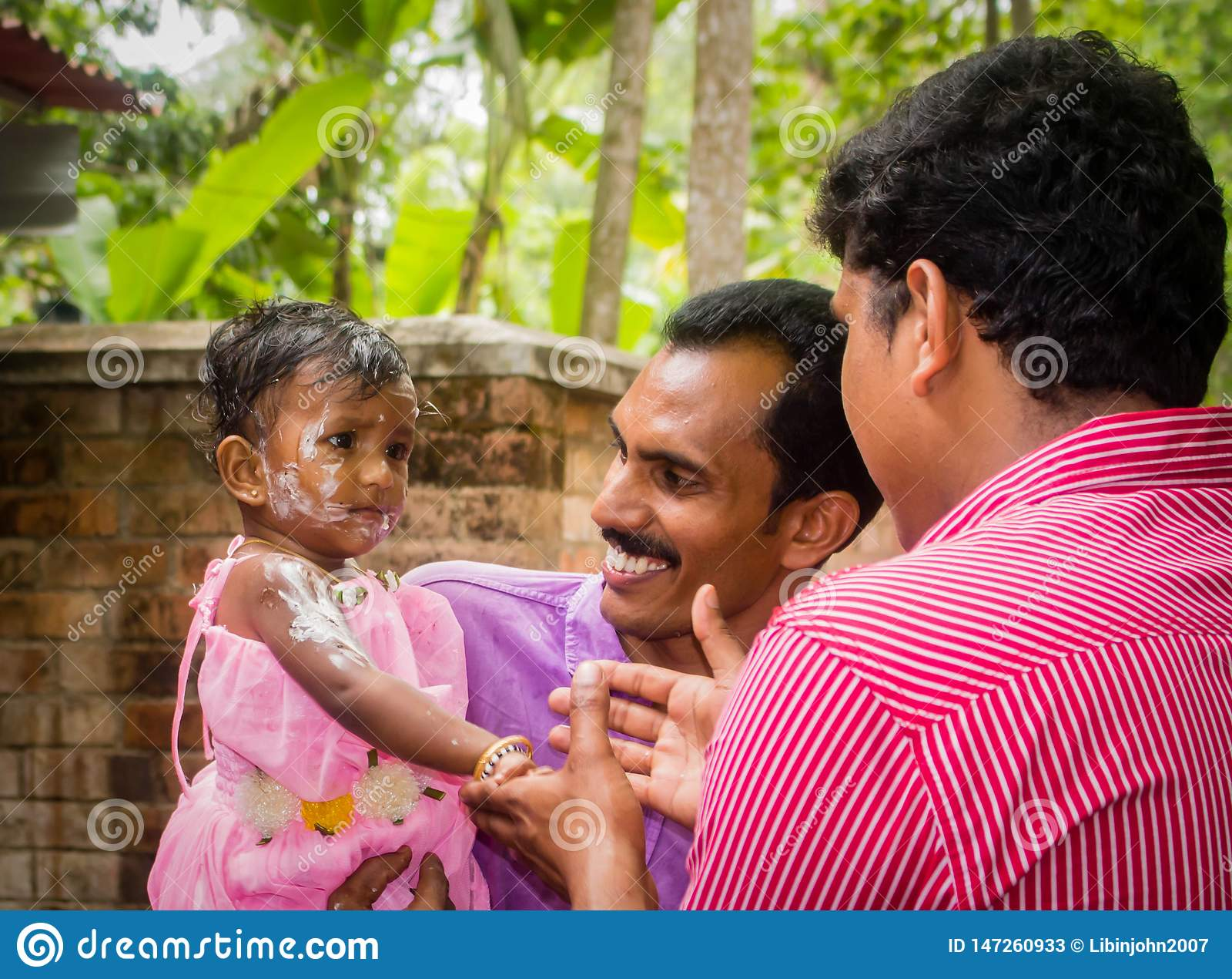 Birthday celebration of Indian child girl