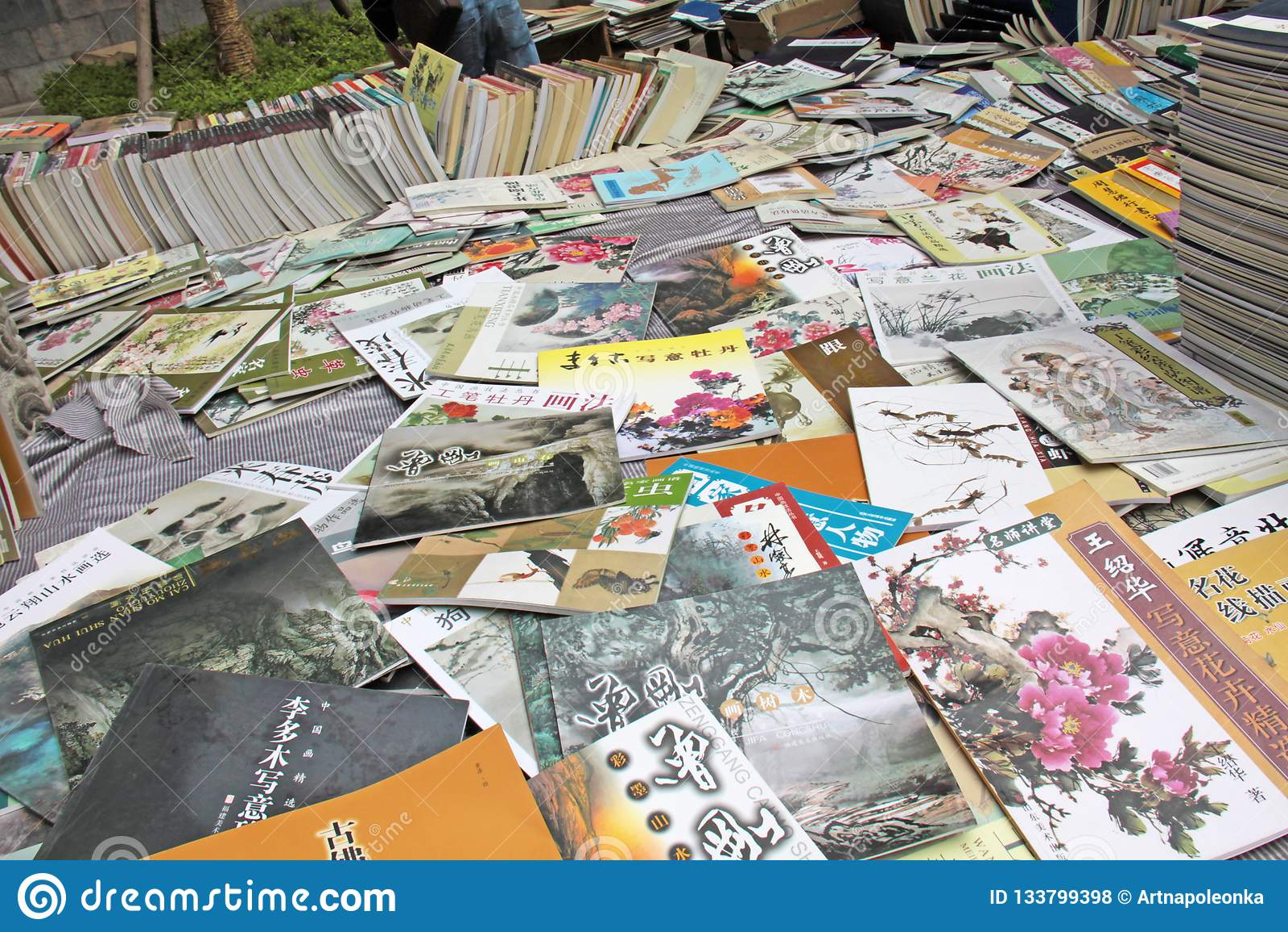Kollapsen och försäljningen av böcker på kinesisk målning och kinesiskt p
