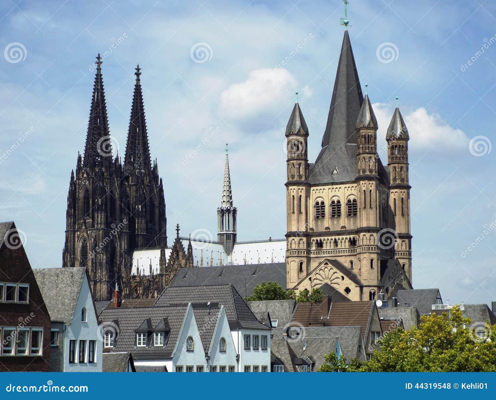Kolońska katedra i brutto St Martin kościół