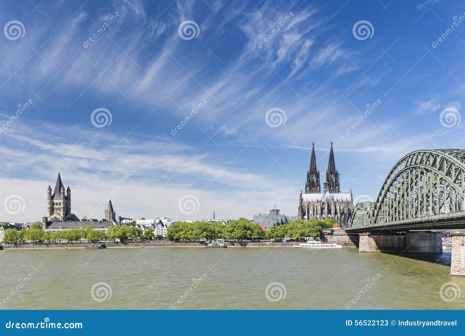 Kolońska katedra i Wielki St Martin kościół, Niemcy