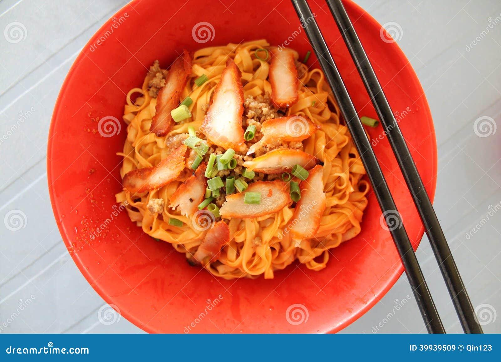 Kolo mee red popular sarawak street food stock photo for X cuisine miri