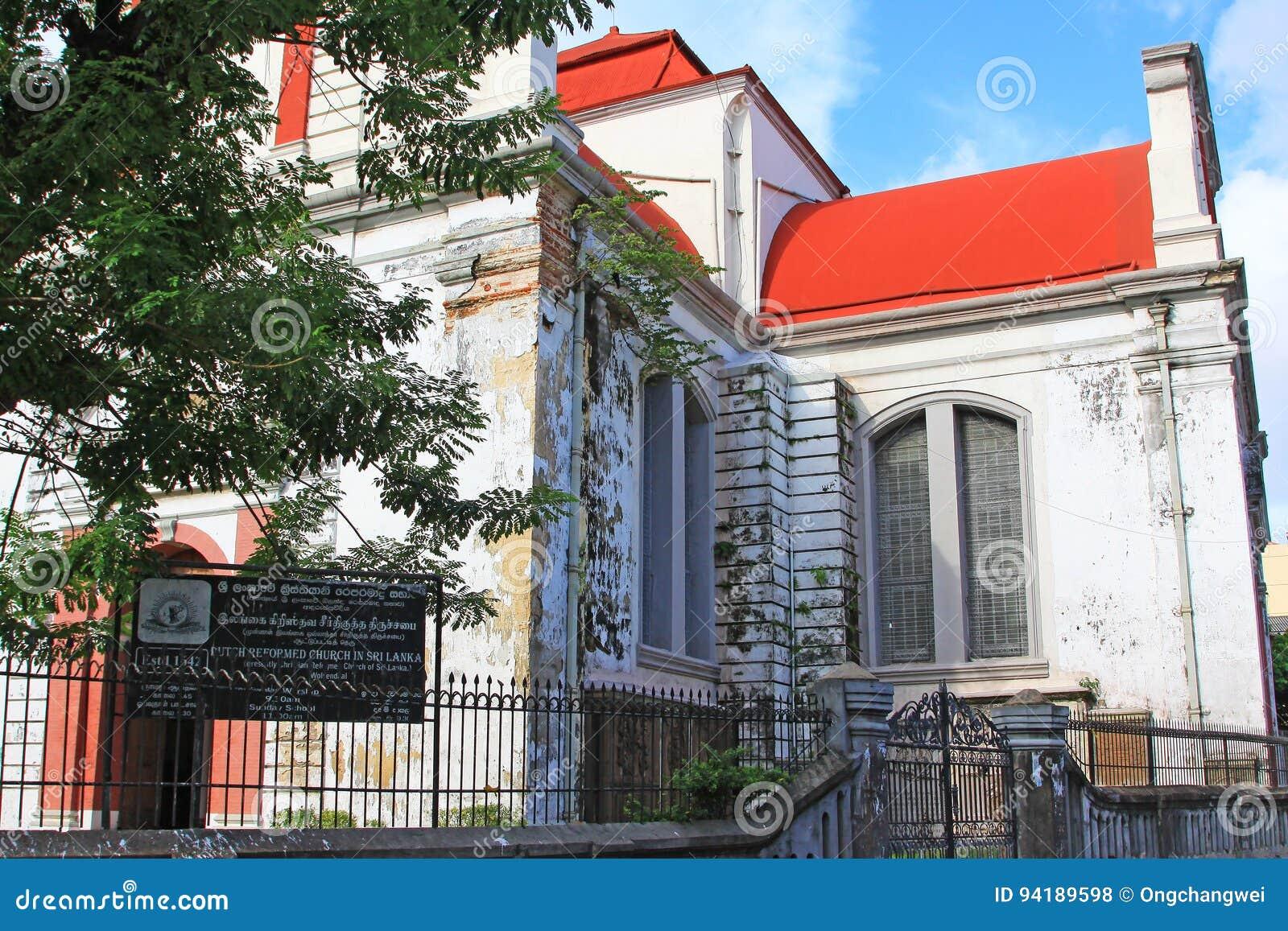 Kolombo holendera Reformowany kościół, Sri Lanka