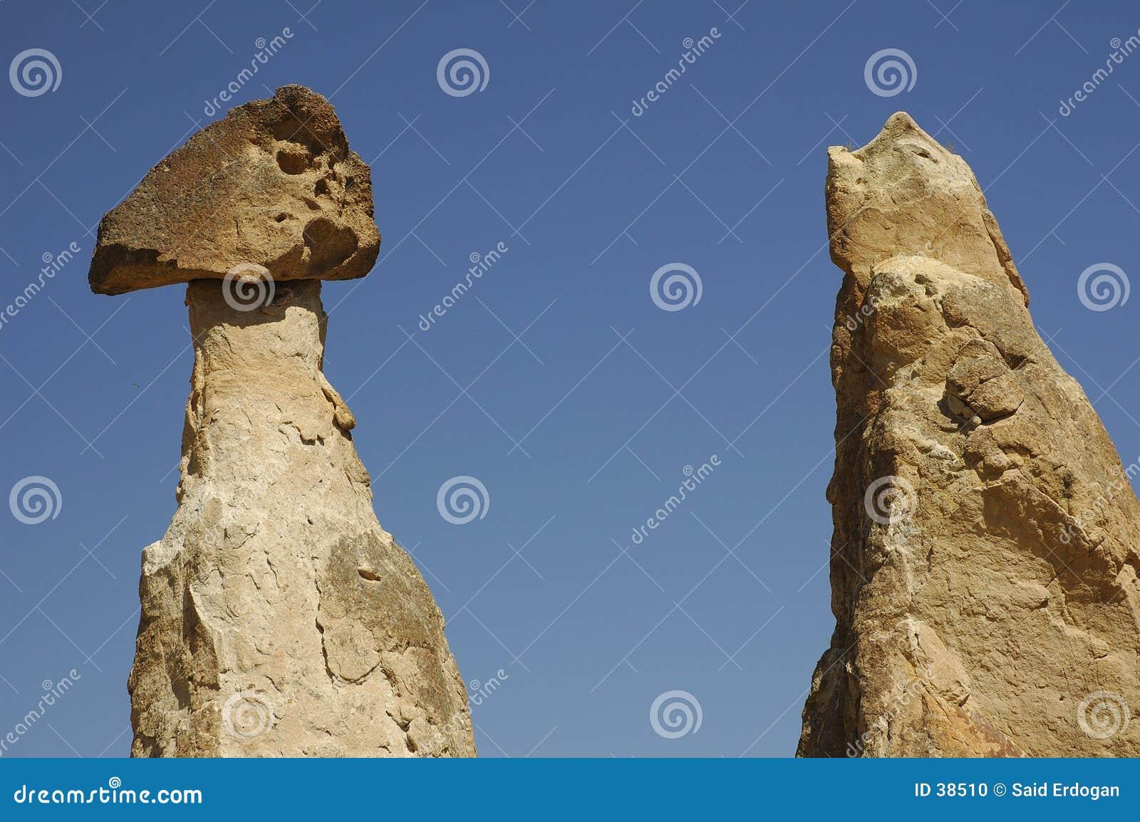 Kolommen in Cappadocia