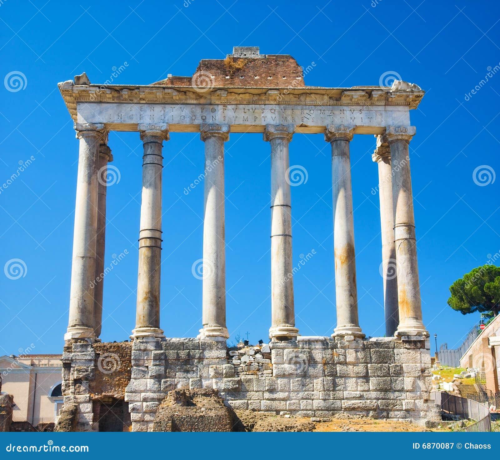 Kolommen op het Forum van Rome