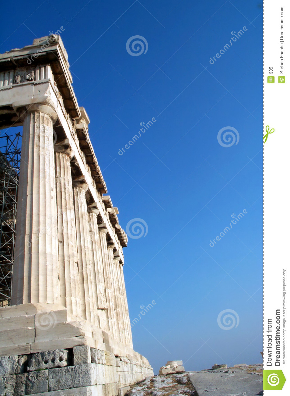 Kolommen in Parthenon