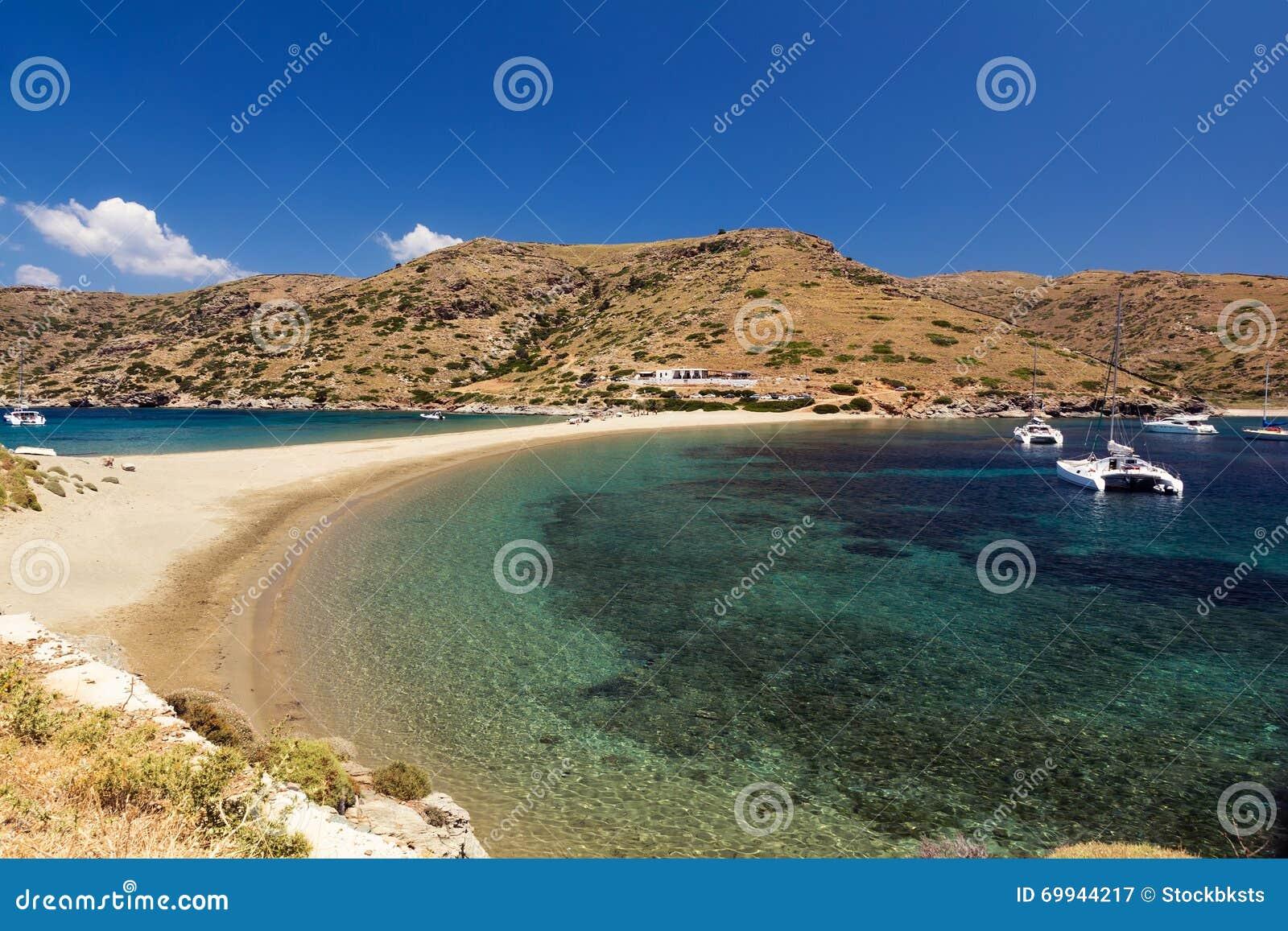 Kolona Beach Kythnos Stock Photo - Image: 69944217