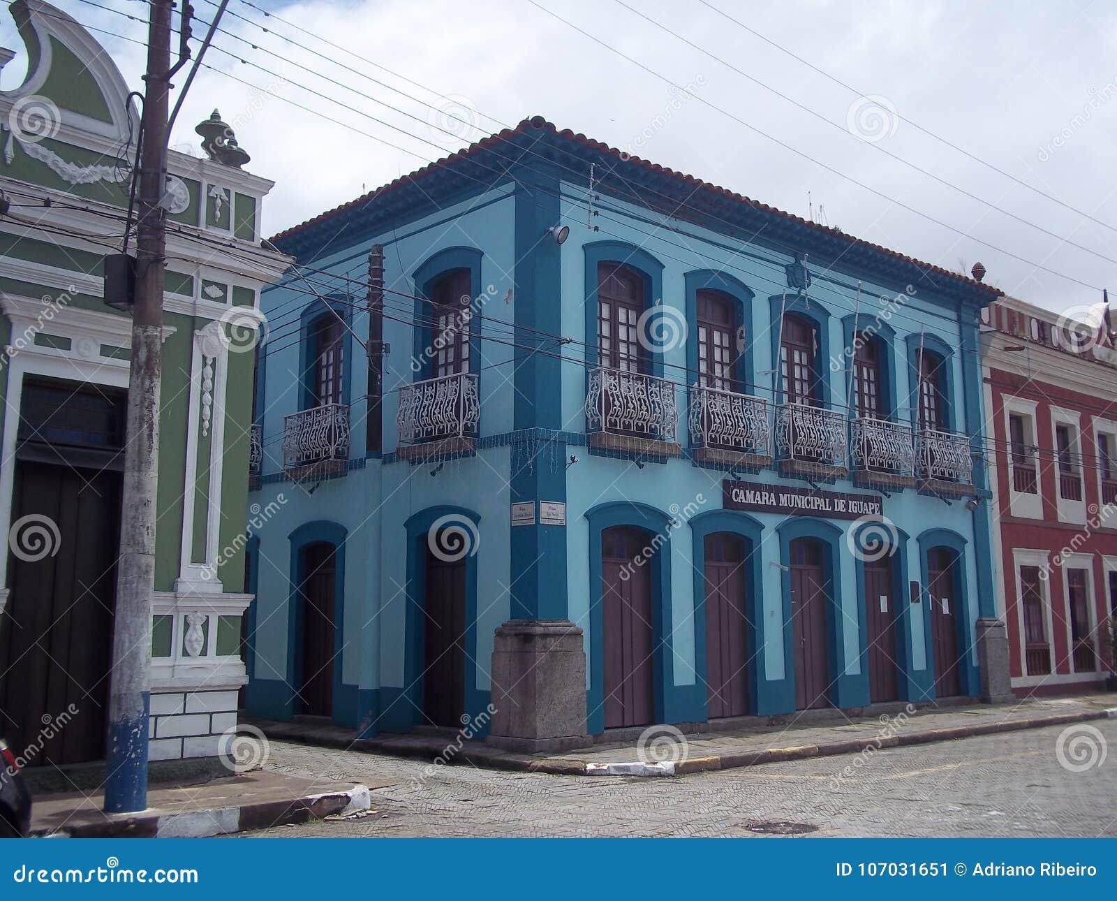 Kolonialny budynek w dziejowym centrum Iguape, Brazylia