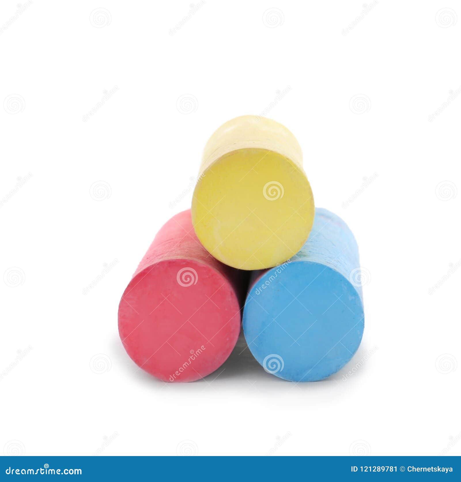 Kolorów kawałki kreda