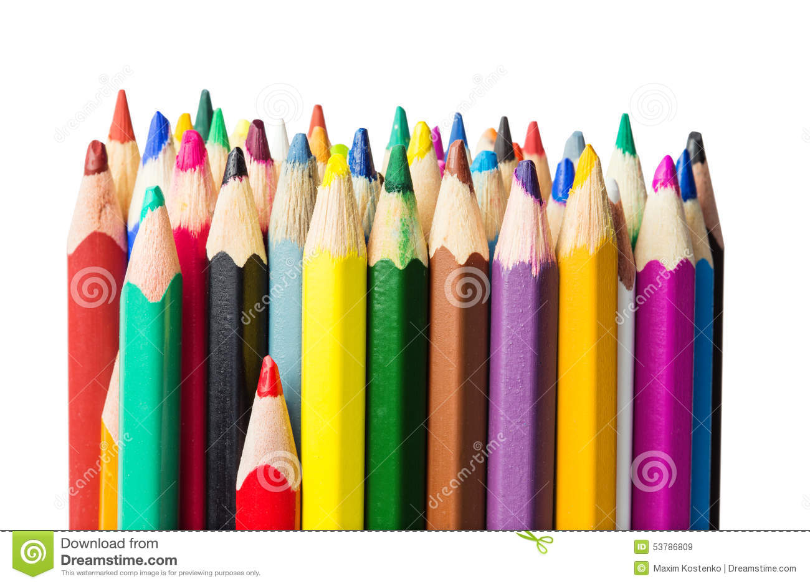 Kolorów ołówków zakończenia fotografia