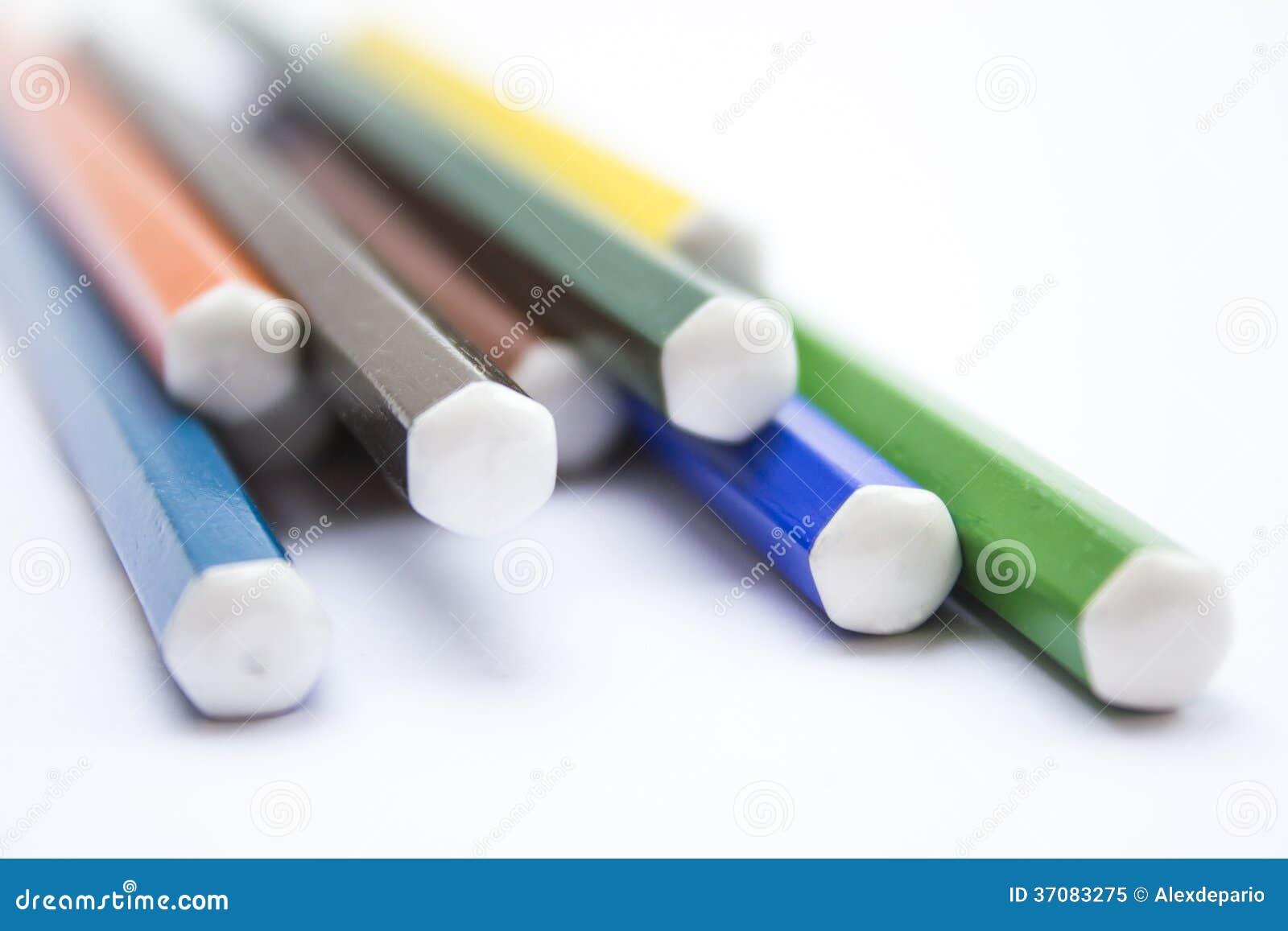Download Kolorów ołówki obraz stock. Obraz złożonej z greenbacks - 37083275