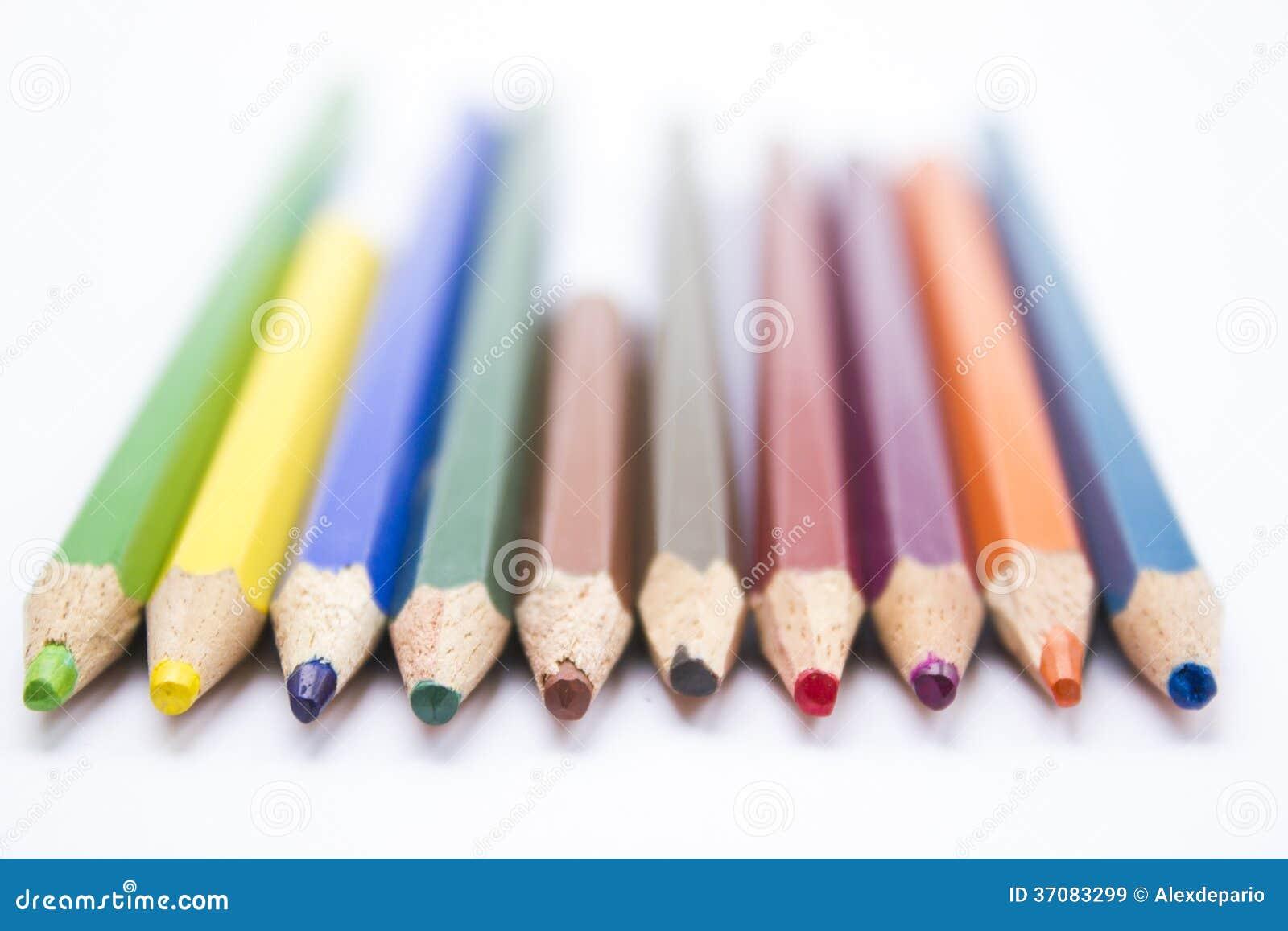Download Kolorów ołówki obraz stock. Obraz złożonej z brąz, abstrakt - 37083299