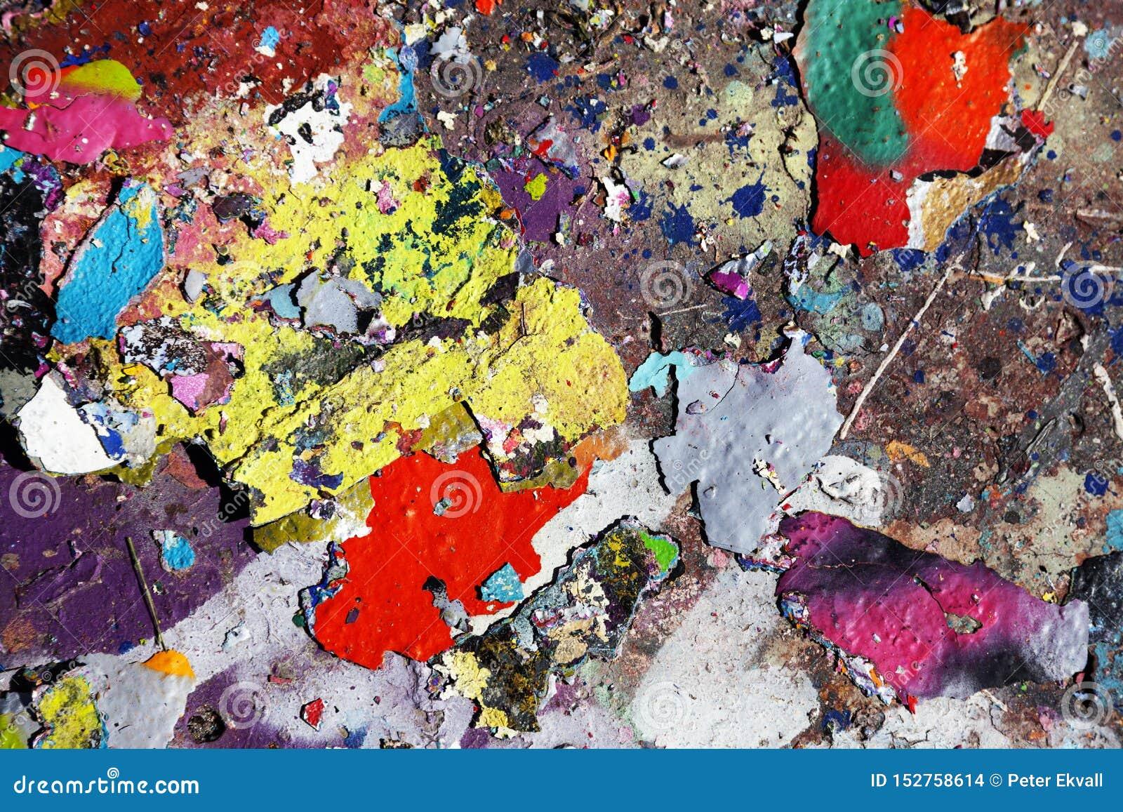 Kolorów płatki spada ziemia