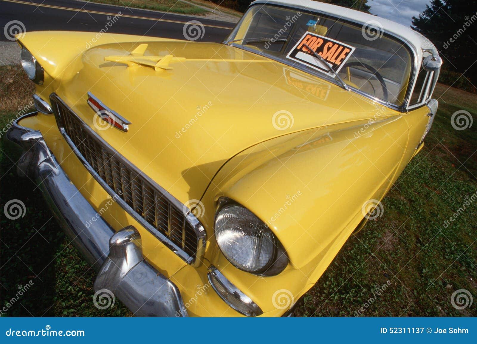 Kolor żółty 1956 Chevrolet Dla sprzedaży