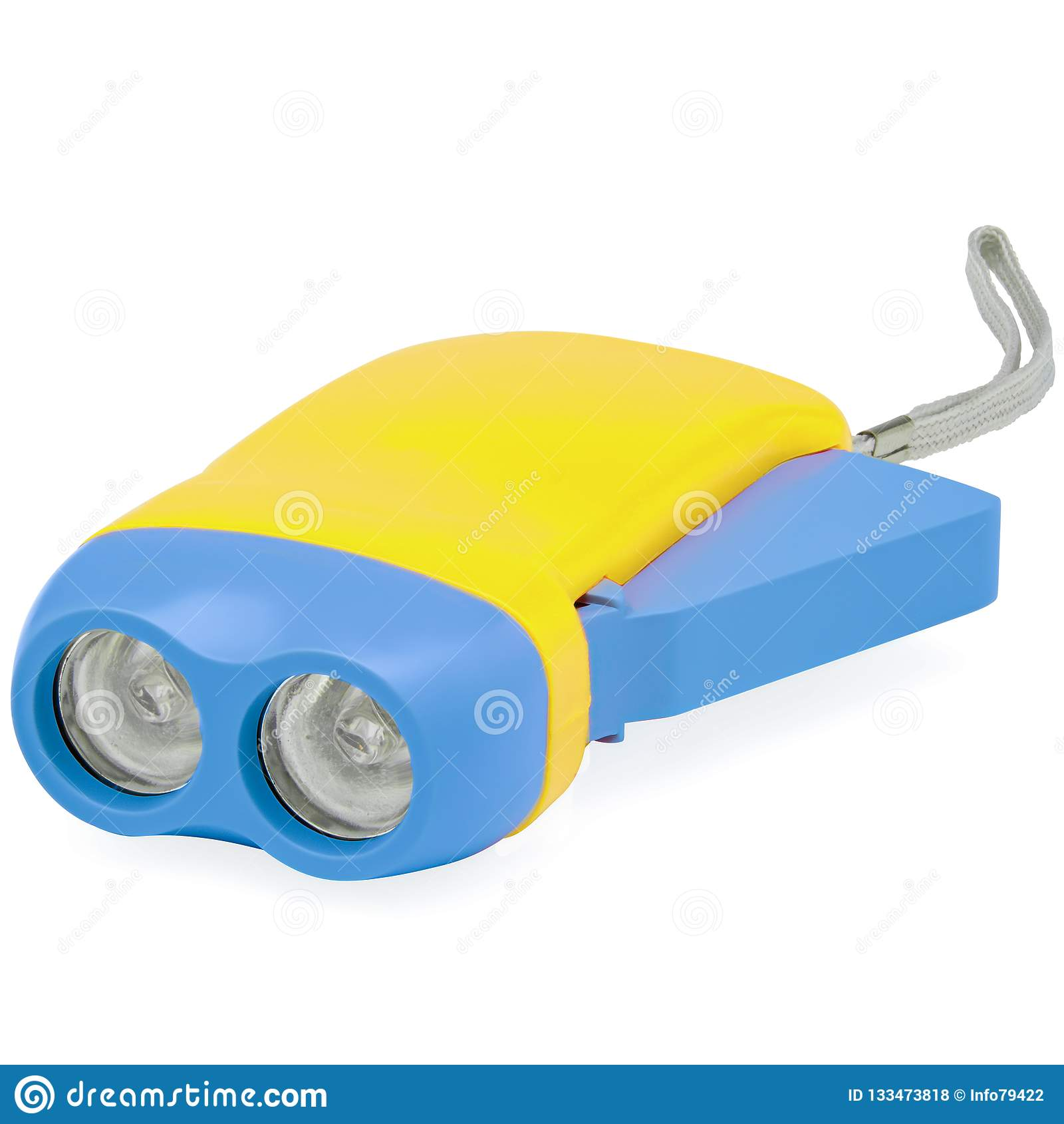 Kolor żółty i Błękitny dzieciaka błysku światło