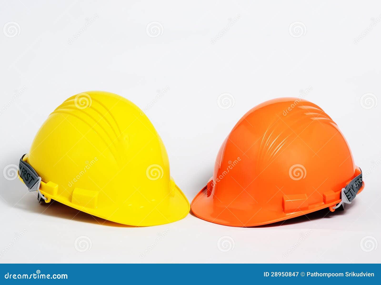 Kolor żółty i pomarańczowy zbawczy hełm