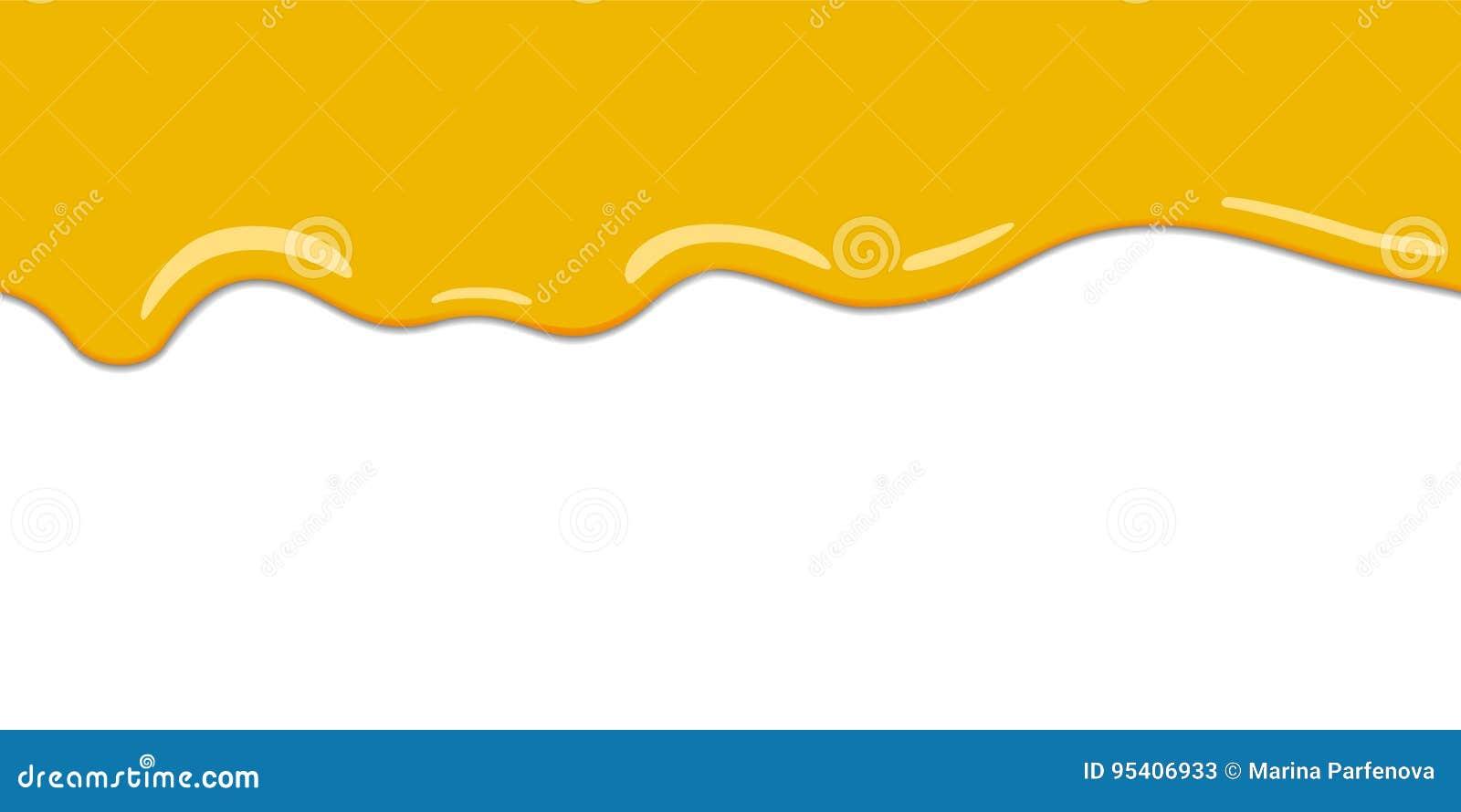 Kolor żółty kapie na bielu plecy Cytryna miodu lub galarety krople wektorowe tło wektor horyzontalny ilustracyjny bezszwowy Kresk