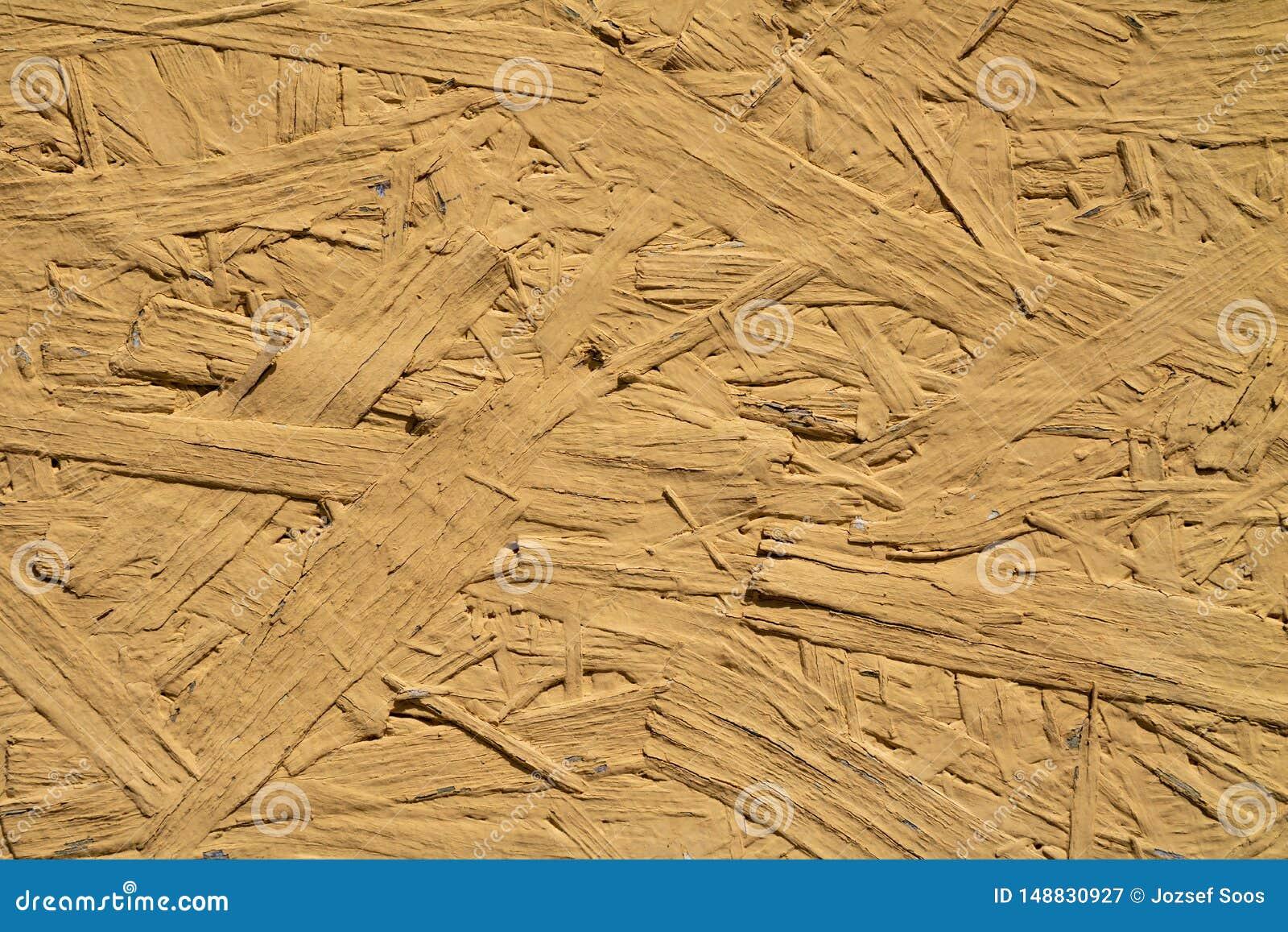 Kolor żółty malująca drewniana ściany powierzchni tekstura w dobrym stanie