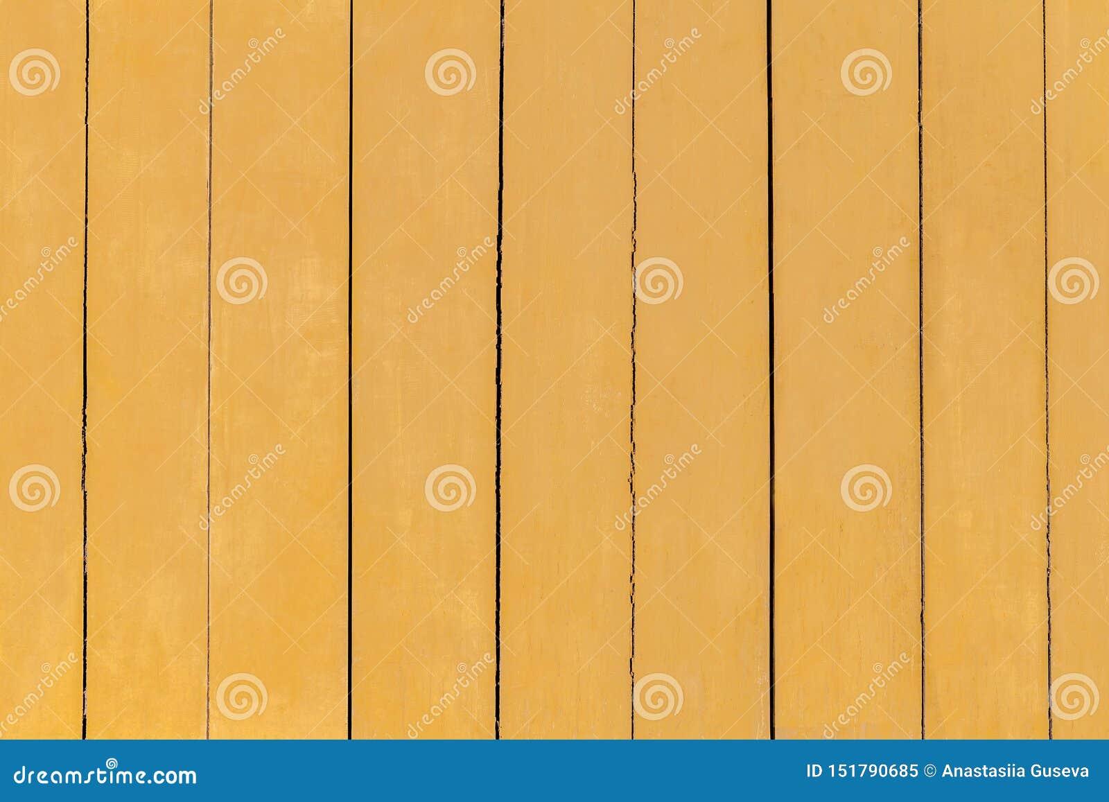 Kolor żółty malujący stary drewniany tło z?oty drewniany tekstury t?o