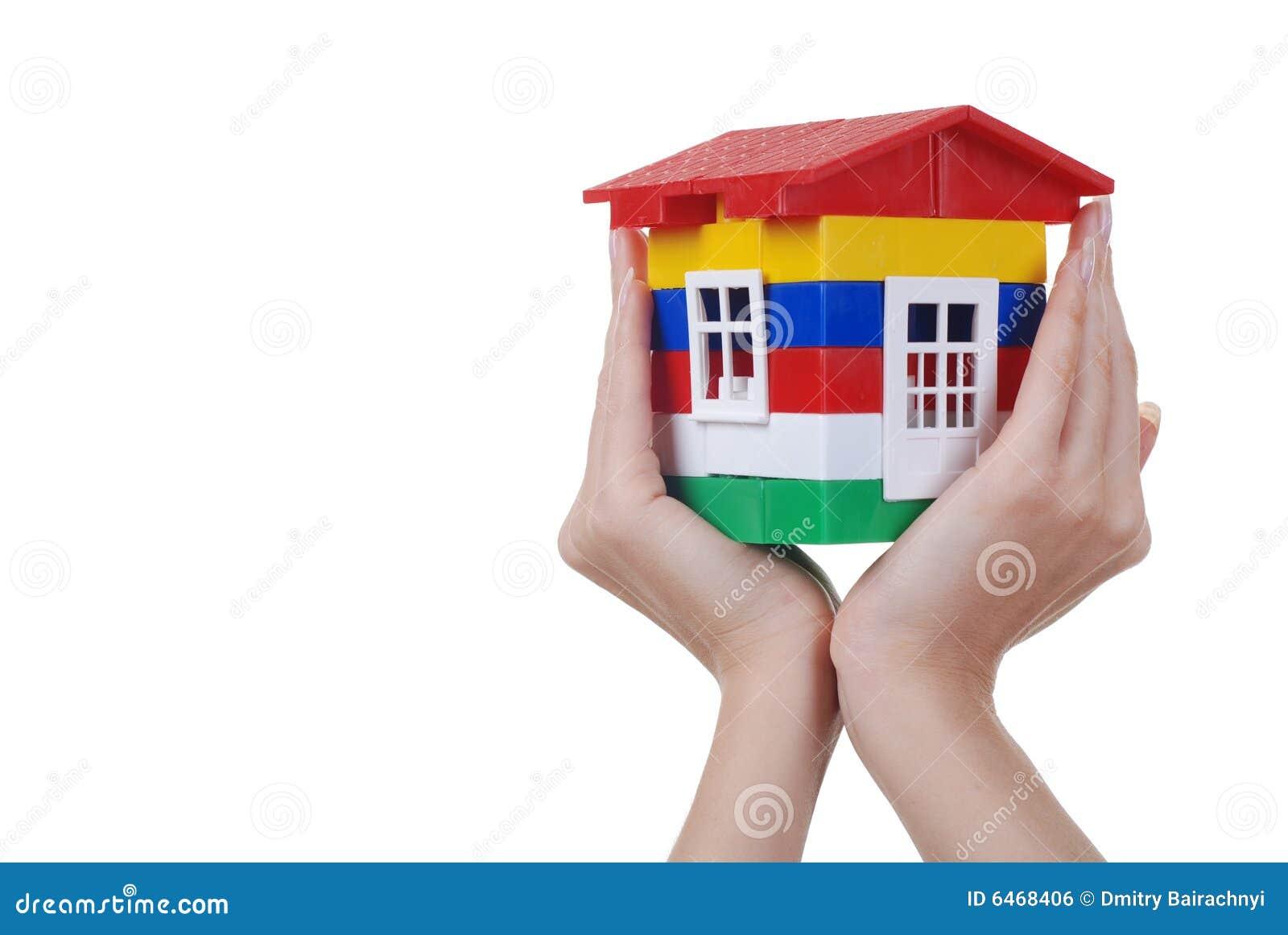 Kolor domu rąk, zabawka