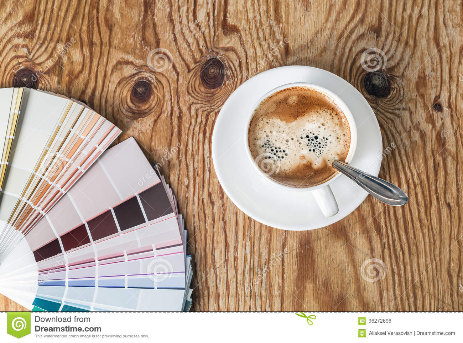 Kolor filiżanka i paleta