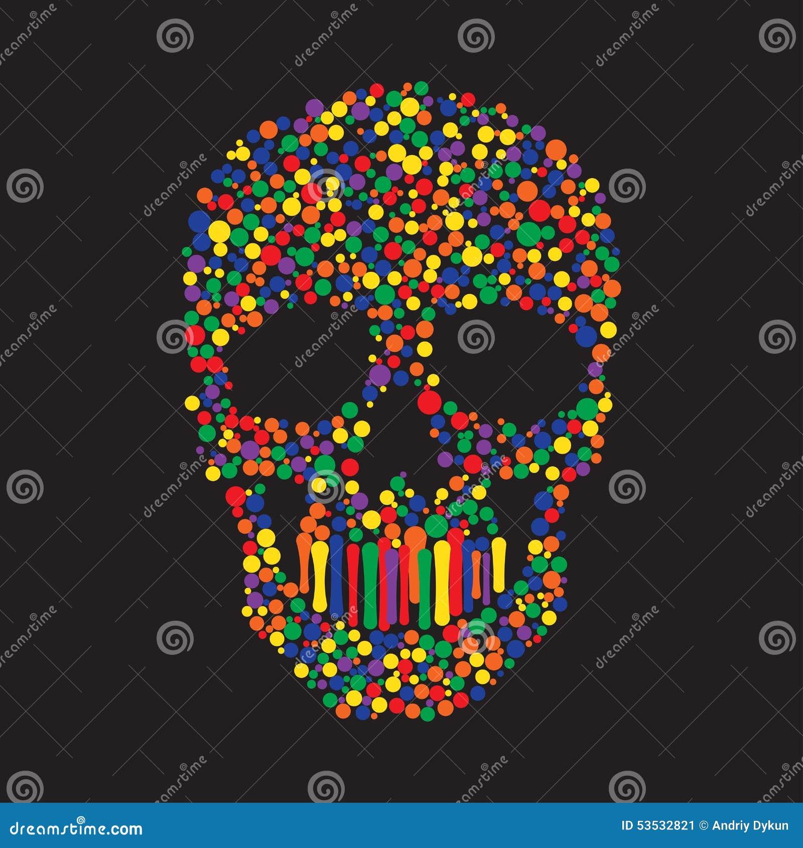 Kolor Kropkuje czaszkę