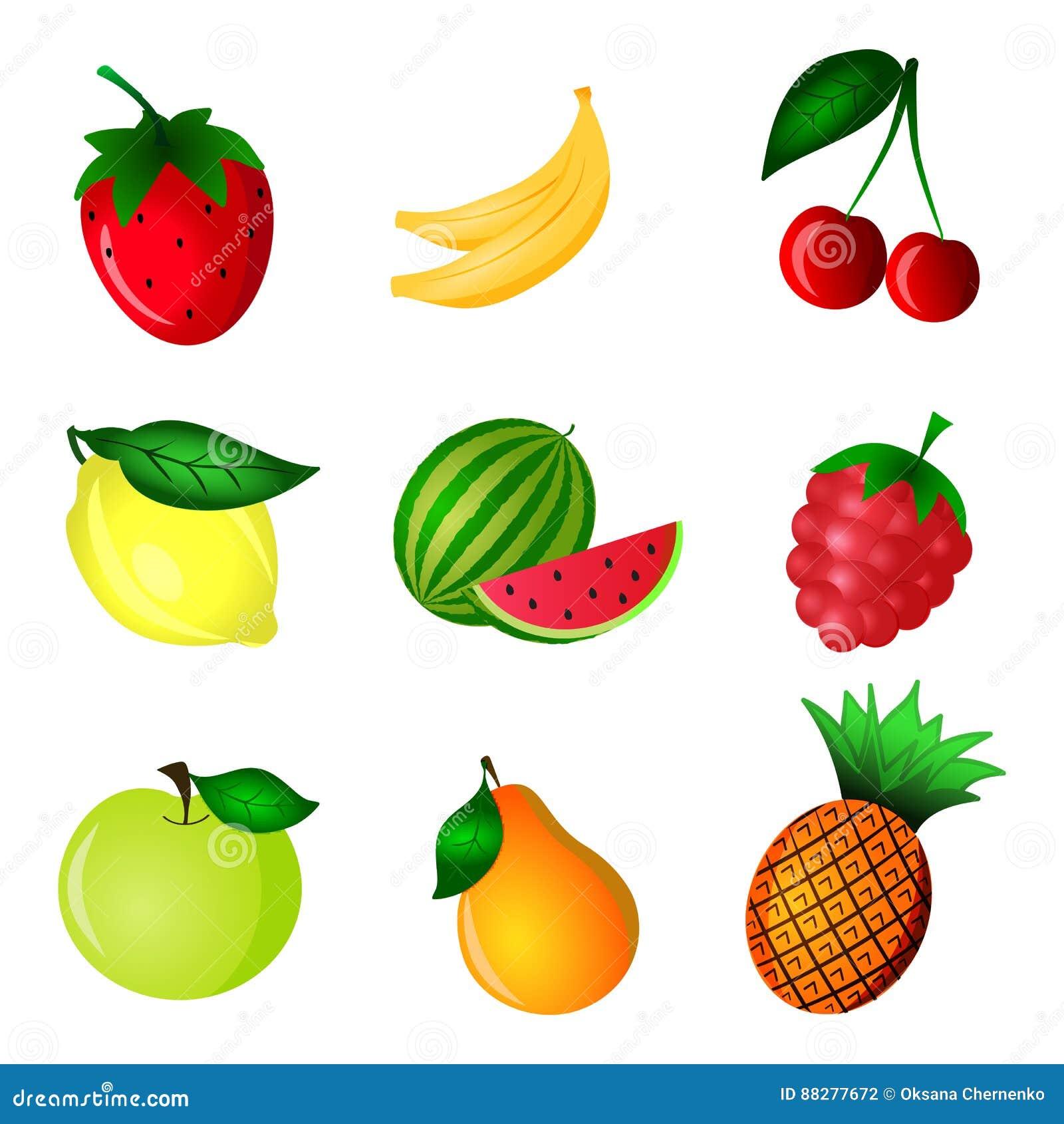 Kolor owoc set