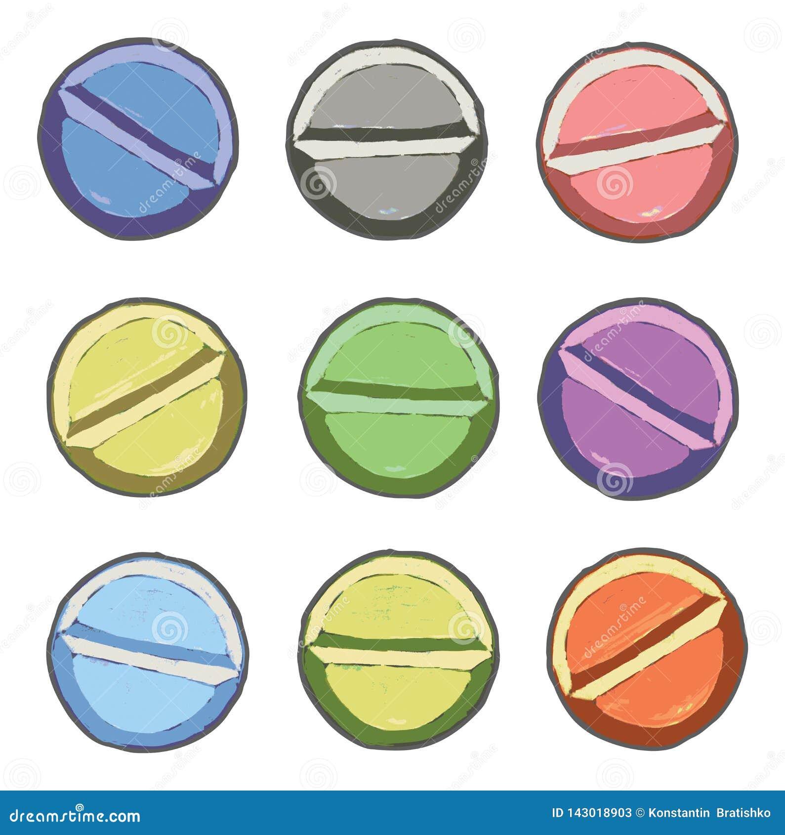 Kolor pigułki ustawiać