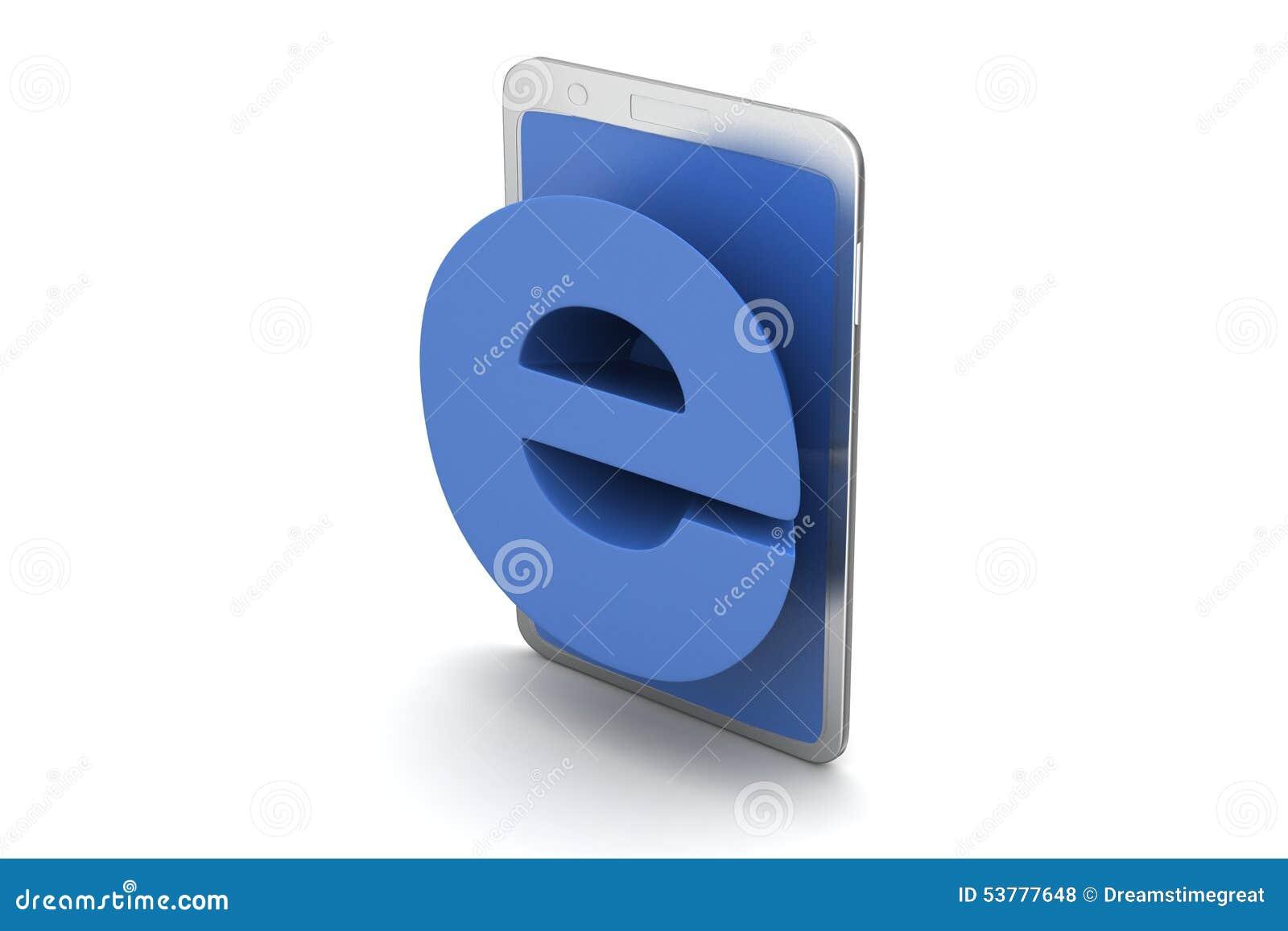 Kolor tła pojęcia, niebieski internetu