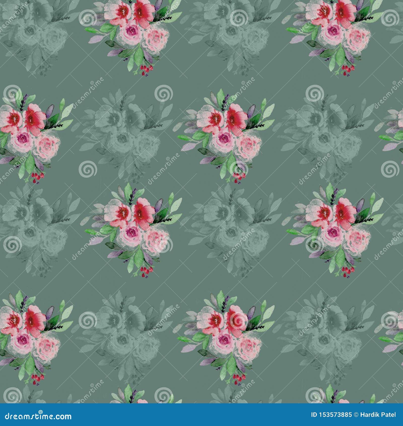 Kolor t?a kwiaty Akwarela - ilustracja