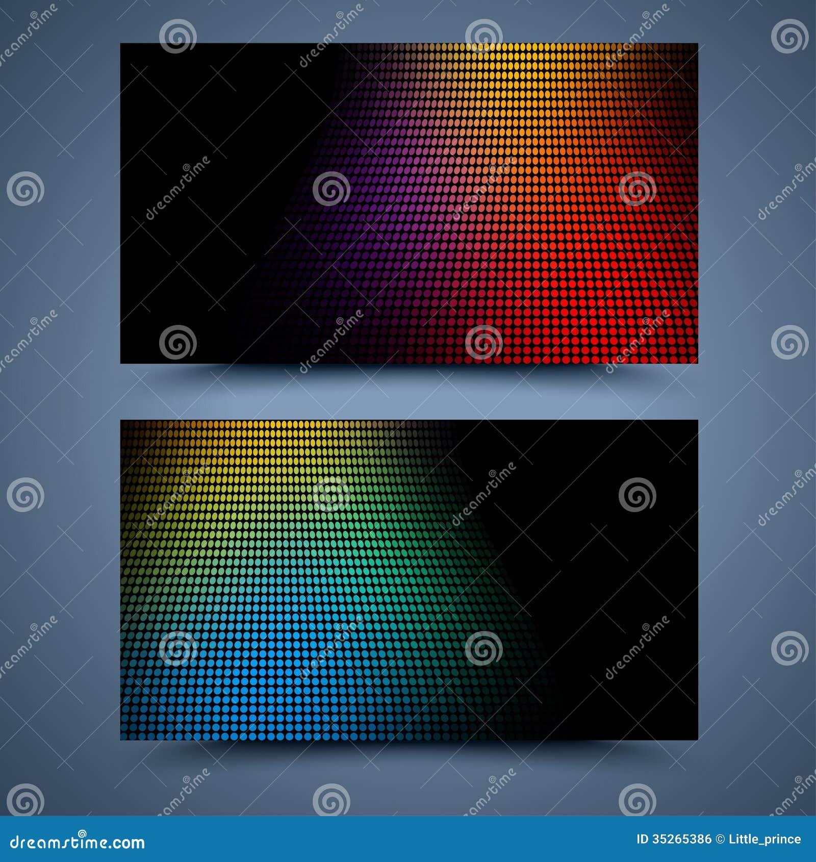 Kolor wizytówki szablon