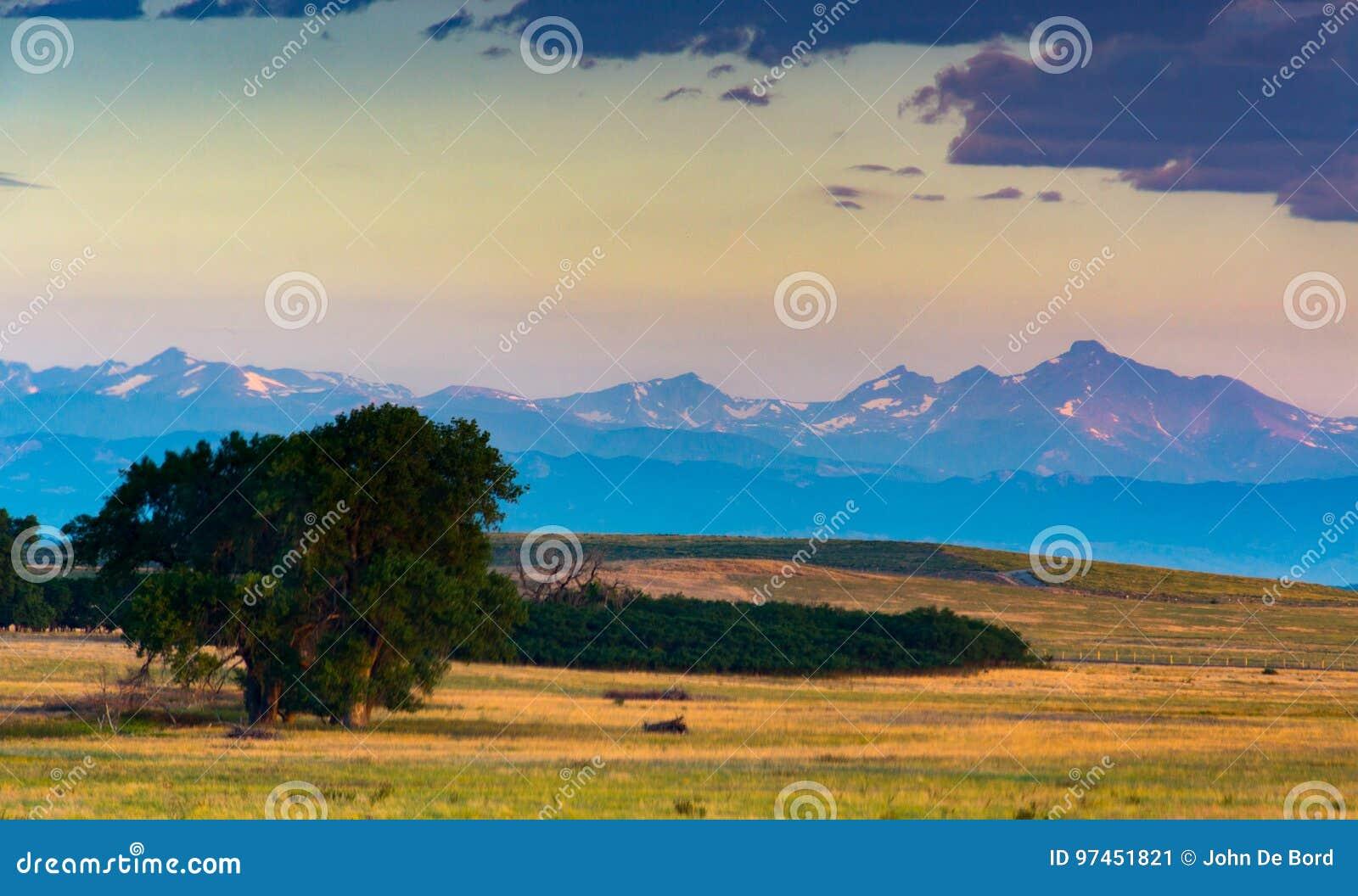 Kolorado Front Range Przy wschodem słońca