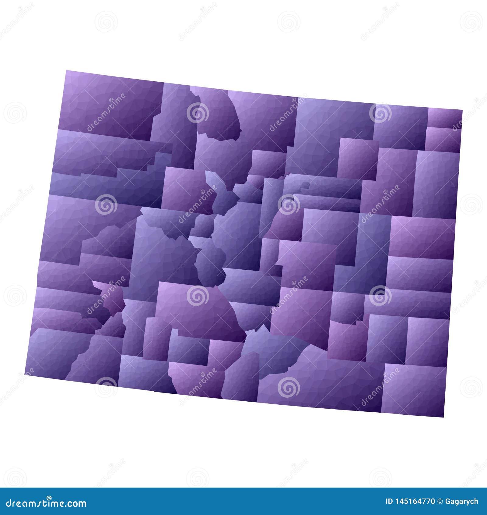 Kolorado mapa