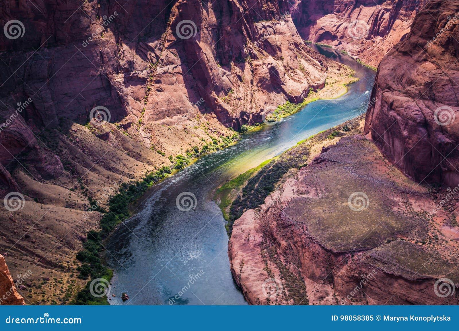 Kolorado rzeka i uroczysty jar Arizona stanu przyciągania, Stany Zjednoczone