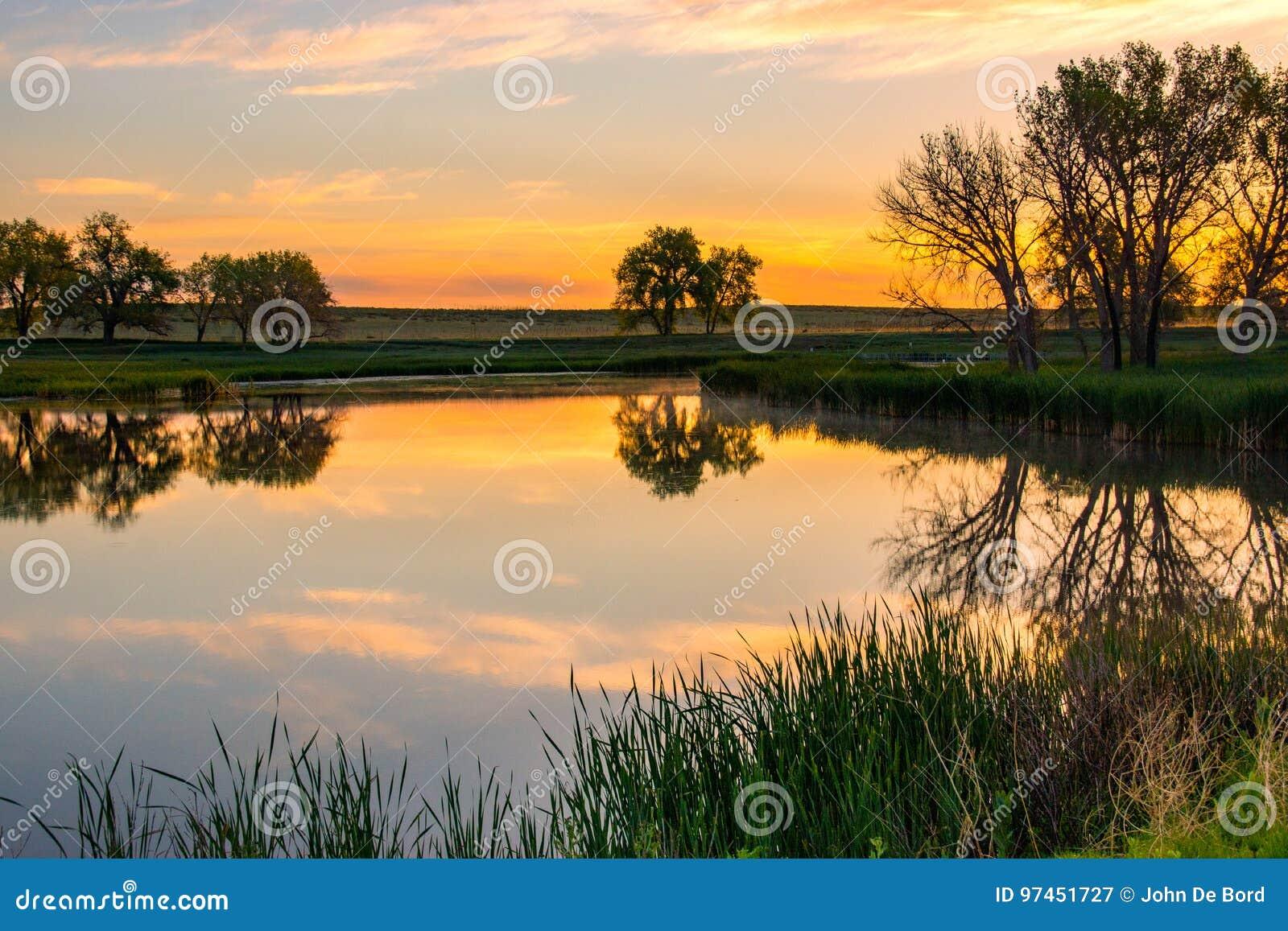 Kolorado wiosny wschód słońca