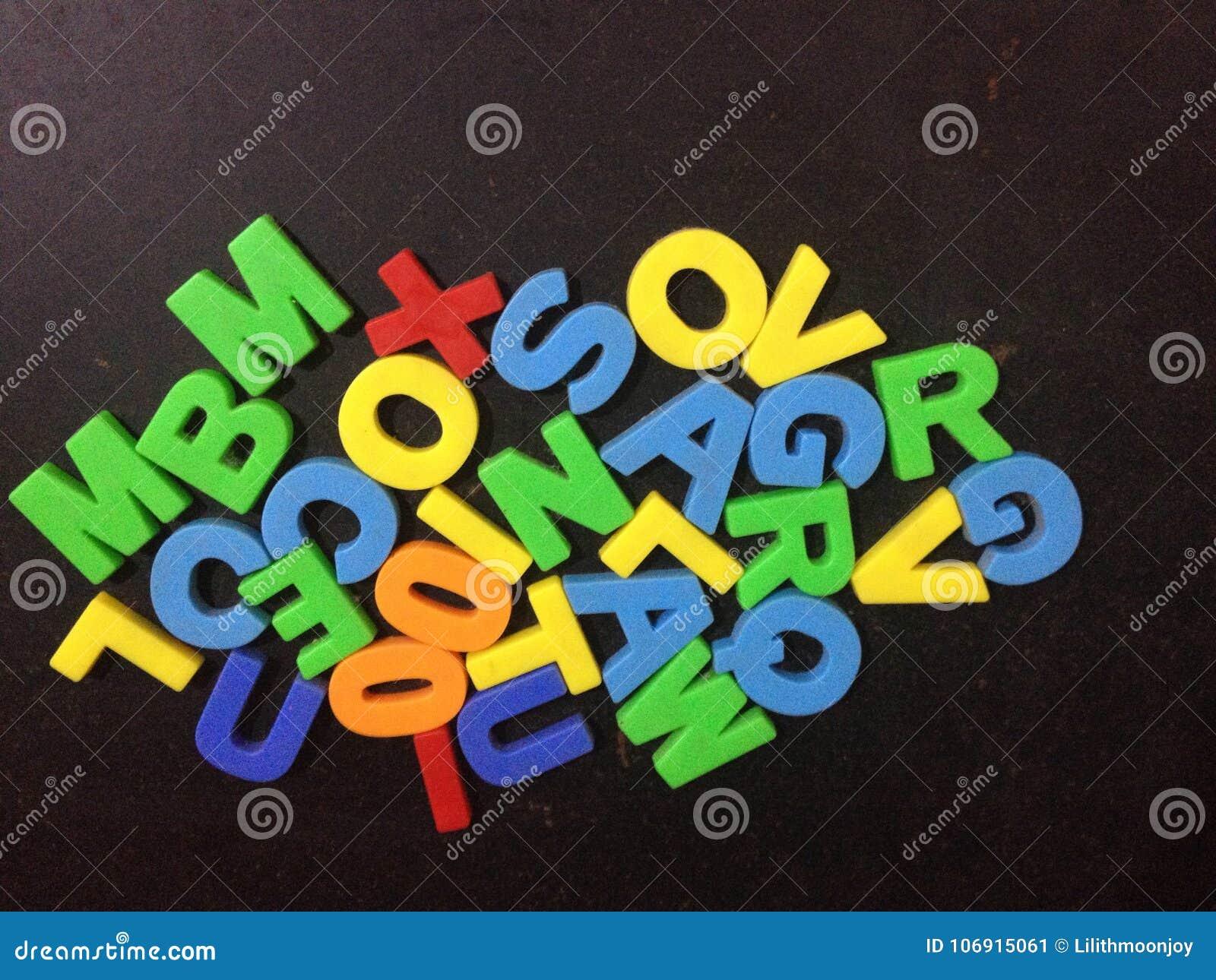 Kolorowa abecadło listów zabawka