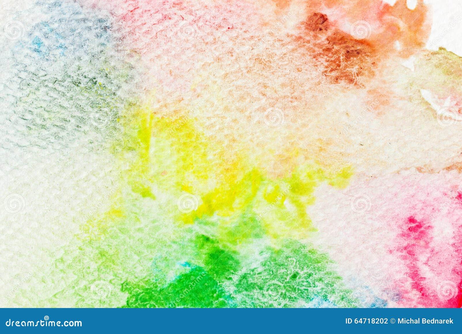 Kolorowa akwareli farba na kanwie Super wysoka rozdzielczość i ilość tło