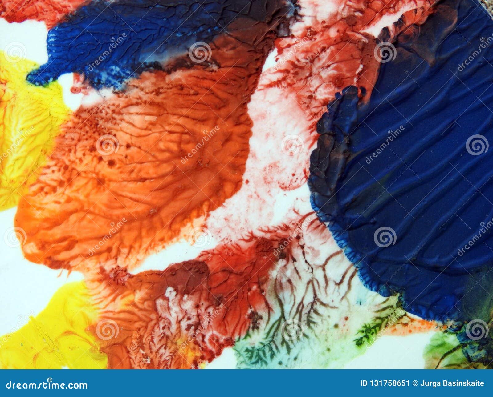 Kolorowa malująca papier powierzchni tekstura