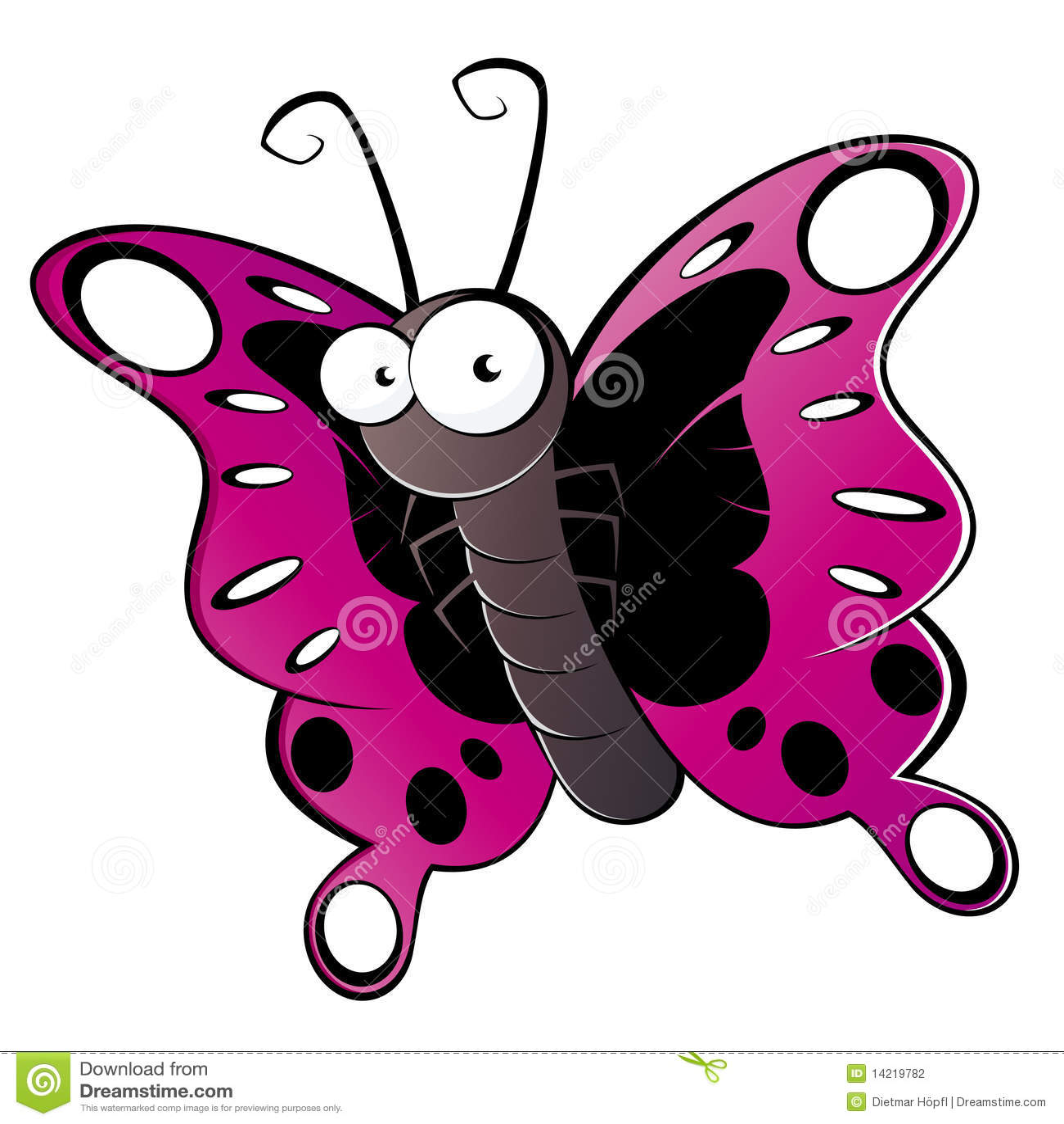 Kolorowa motylia kreskówka