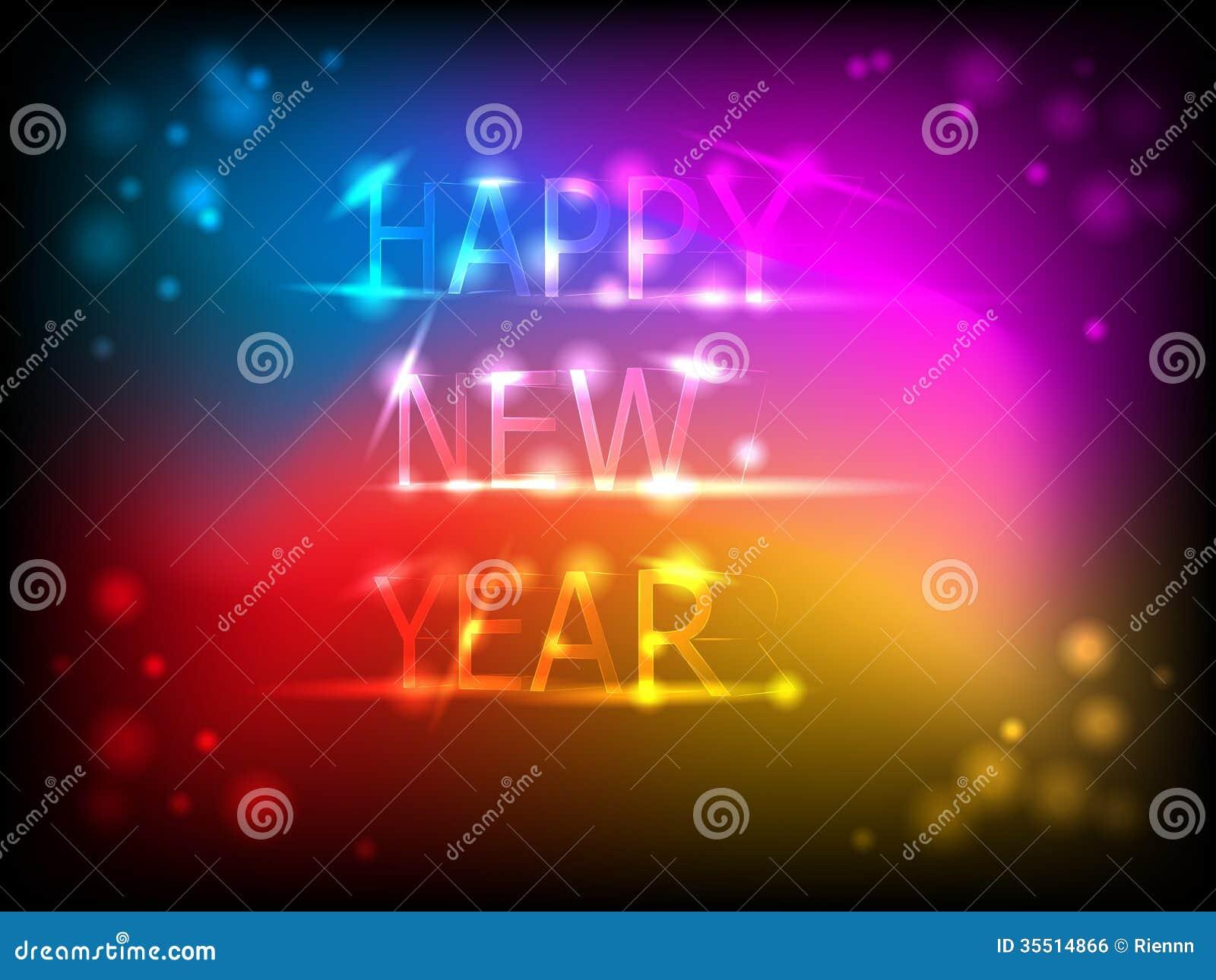 Kolorowa nowy rok karta