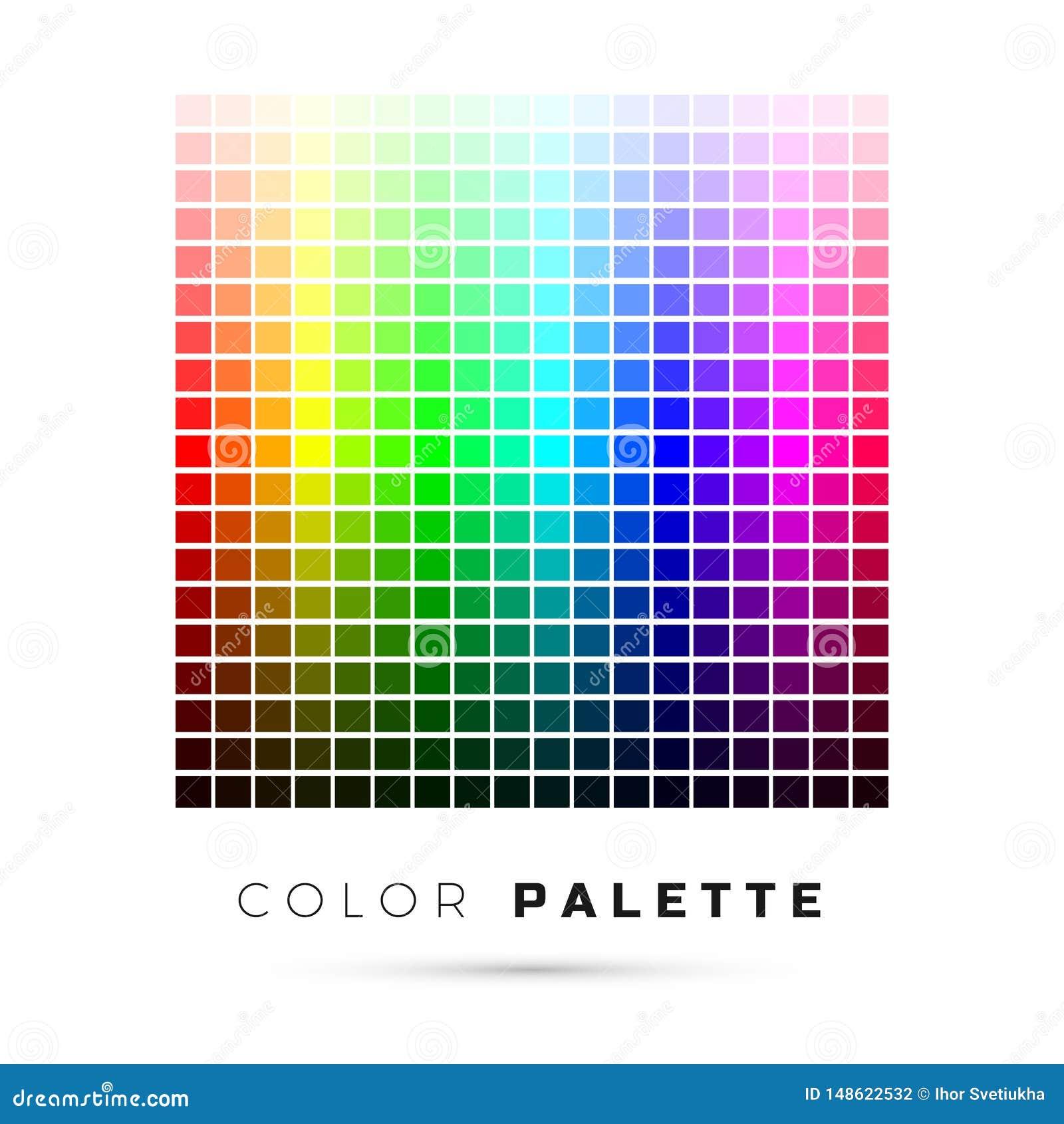 Kolorowa paleta Set jaskrawi kolory t?czy paleta Pe?ny widmo kolory r?wnie? zwr?ci? corel ilustracji wektora