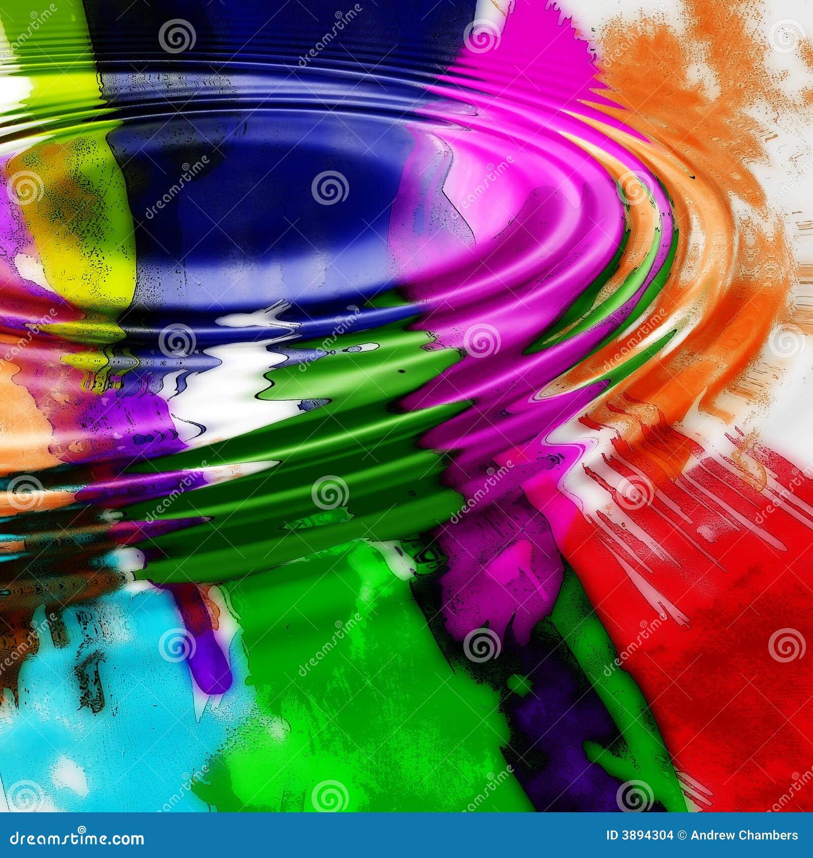 Kolorowa ripple graficzna