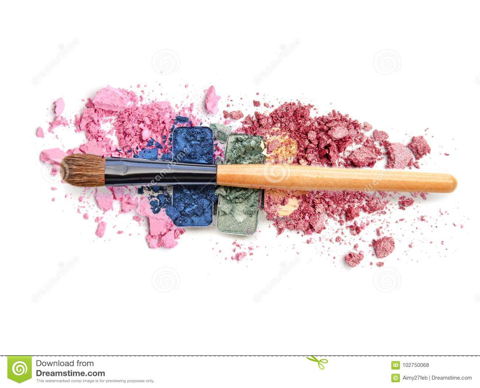 Kolorowa zdruzgotana oko cienia paleta i rumieniec uzupełnialiśmy