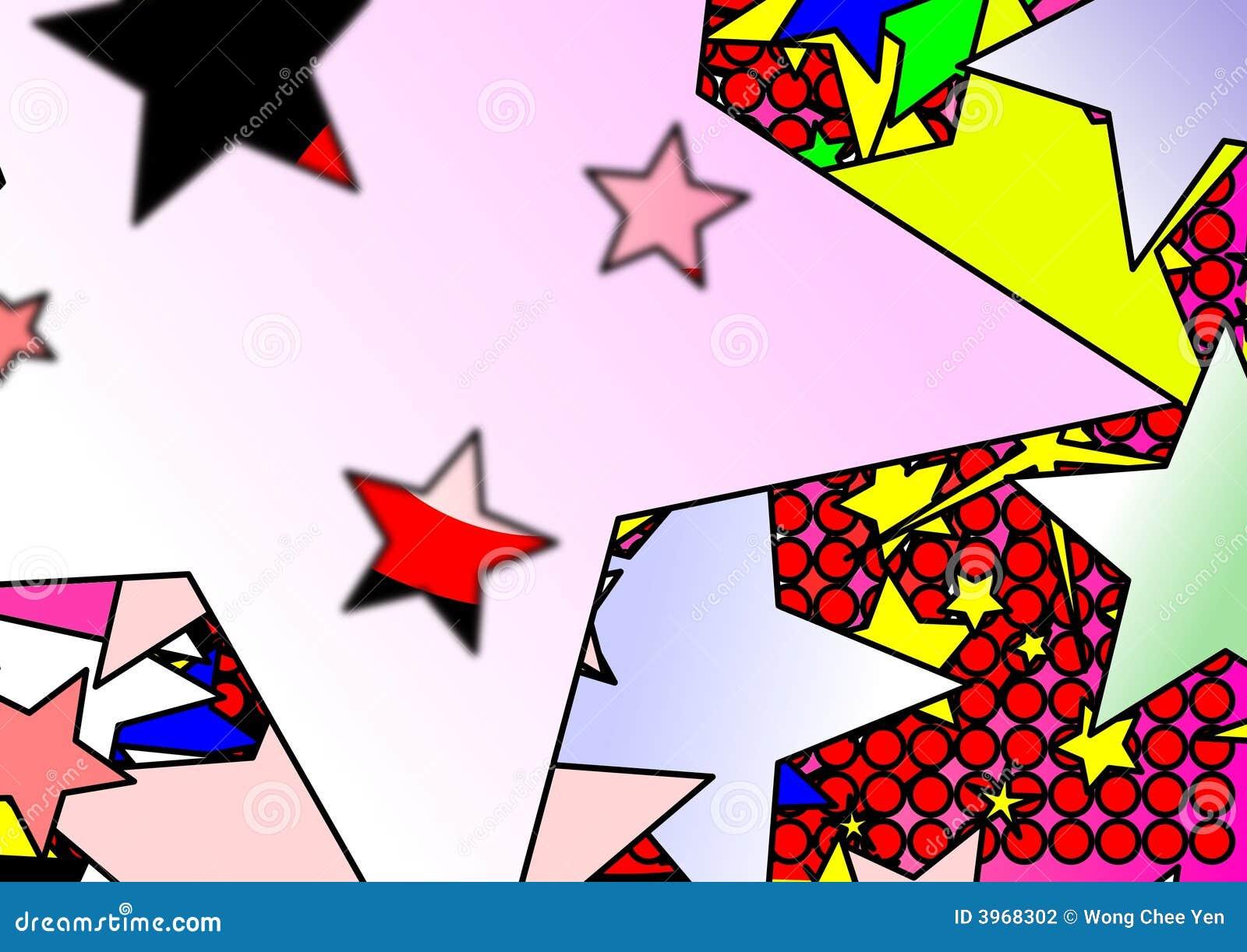 Kolorowe kropek gwiazdy