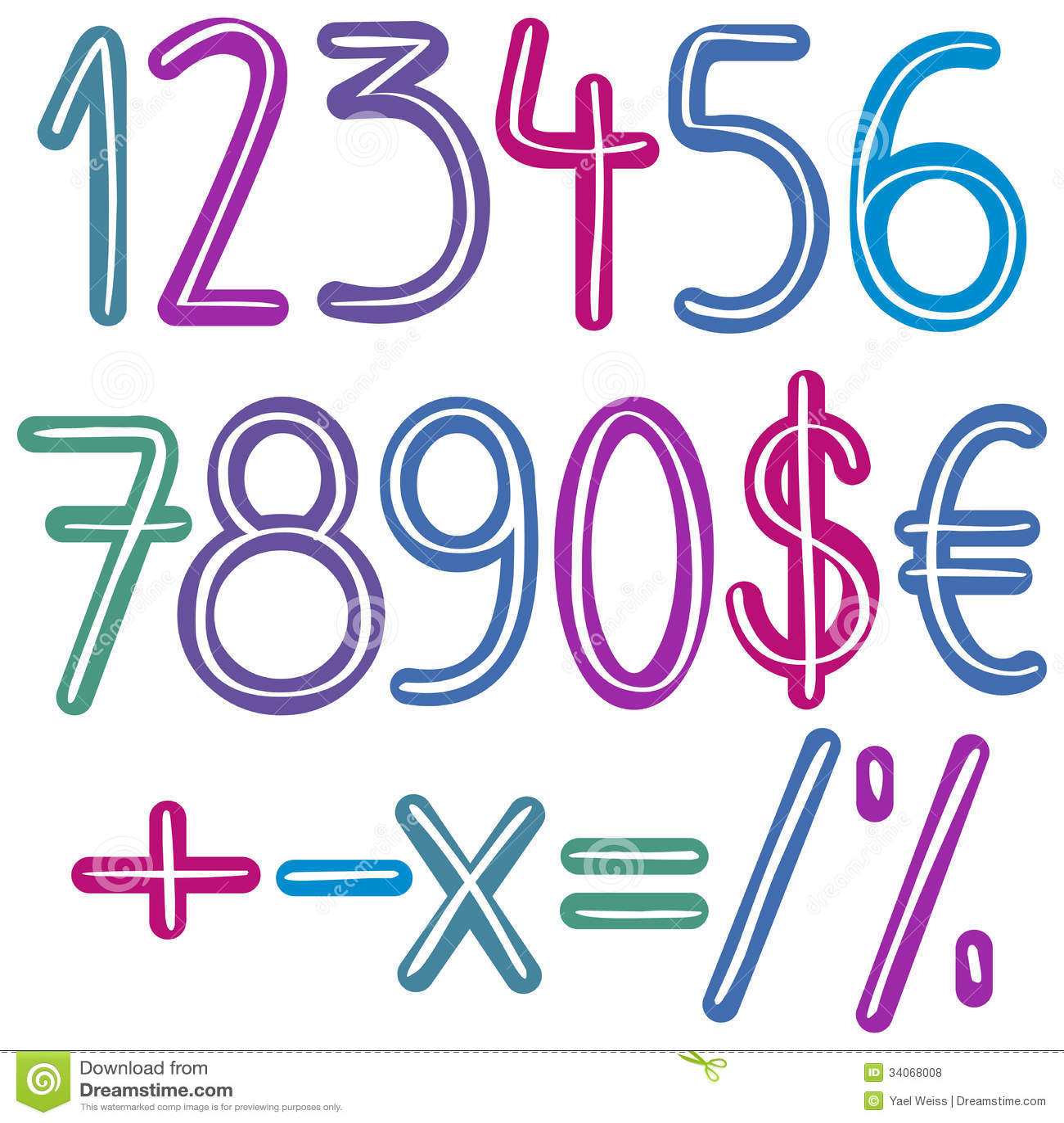 Kolorowe muśnięcie liczby