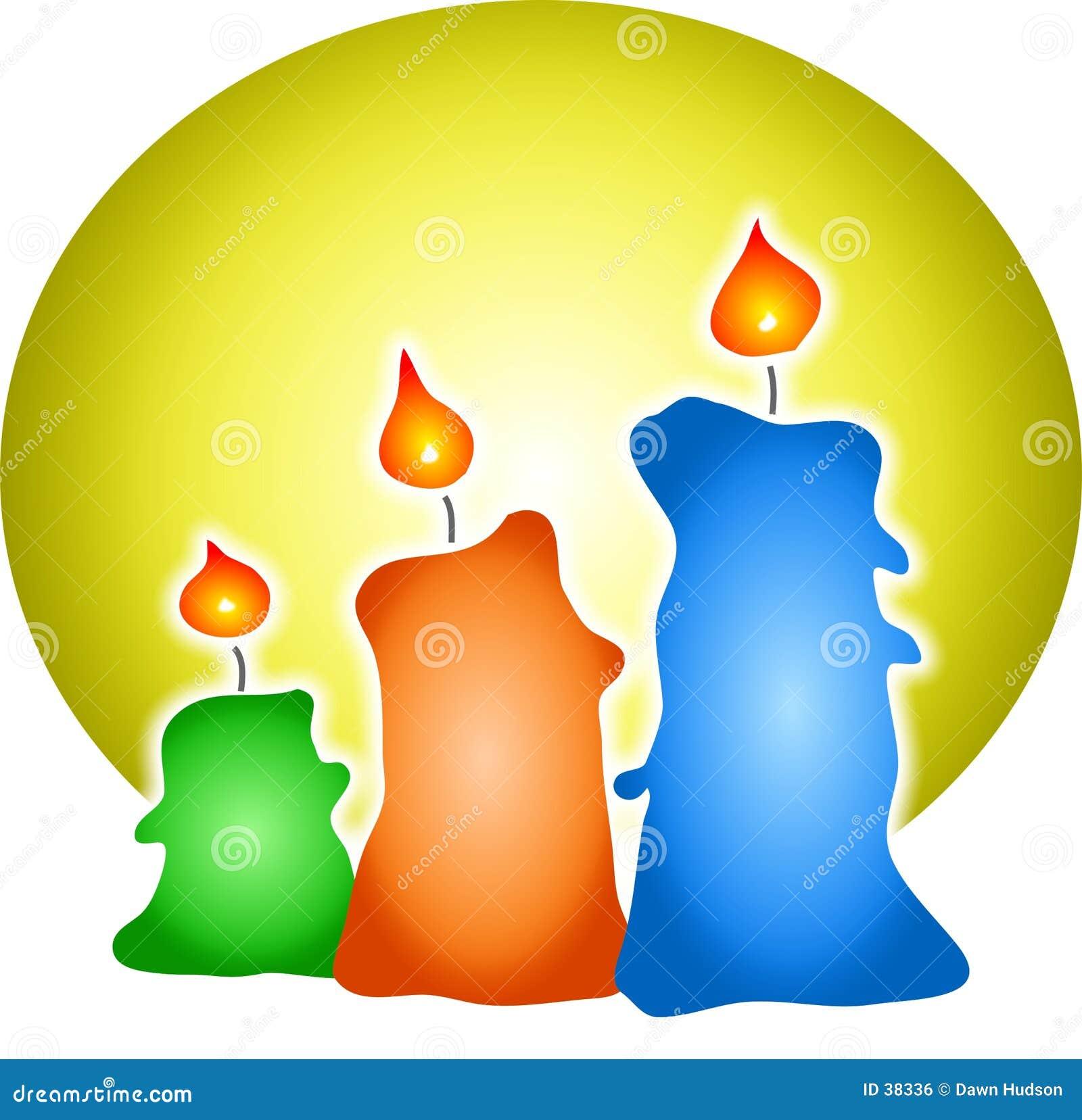 Kolorowe świece.