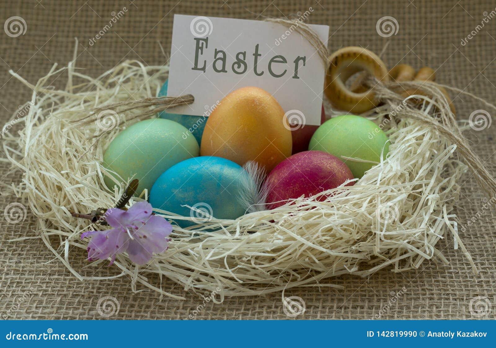Kolorowe Wielkanoc jaj